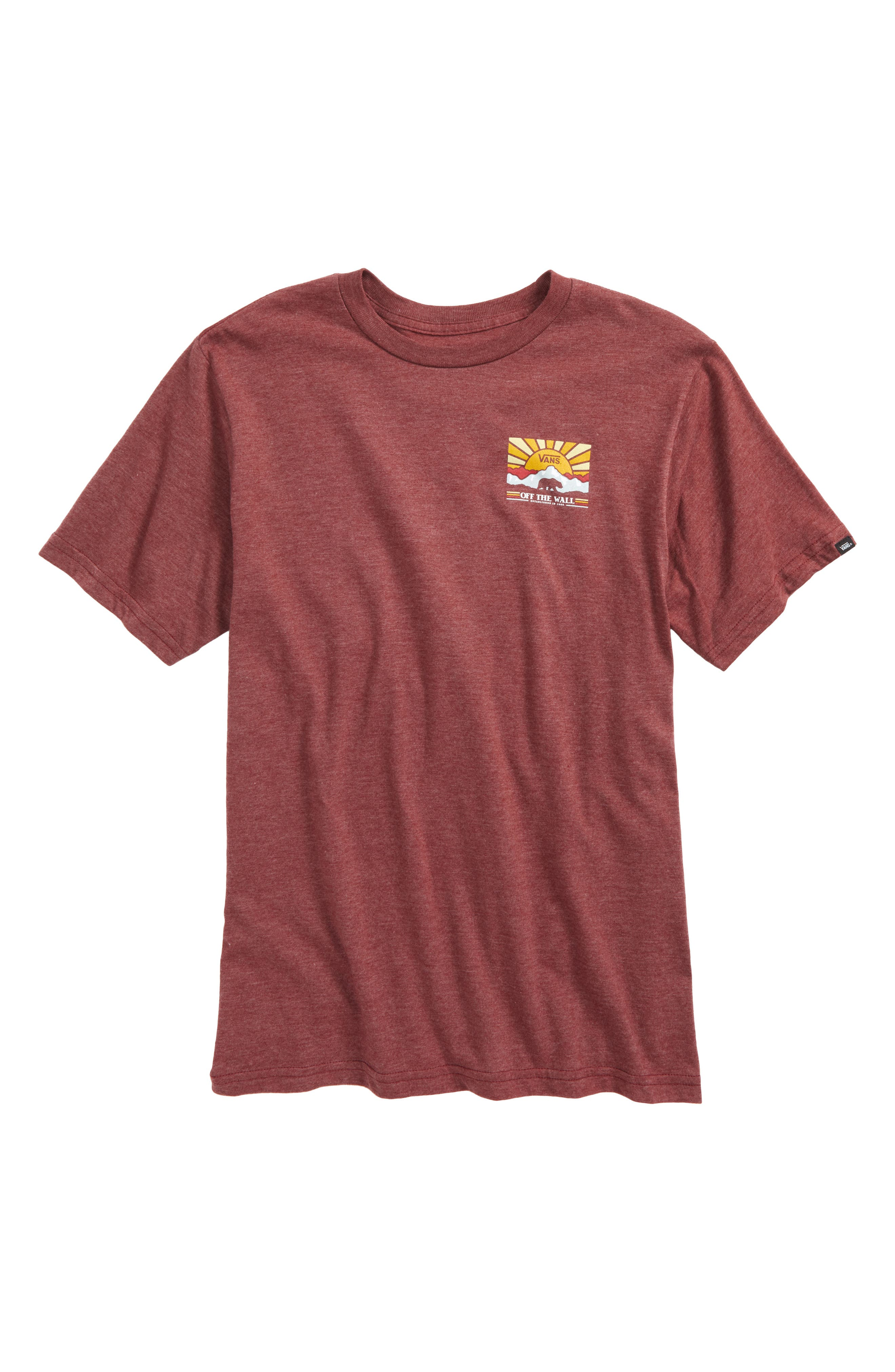 Grizzly Mountain Graphic T-Shirt,                             Main thumbnail 1, color,                             Burgundy Heather
