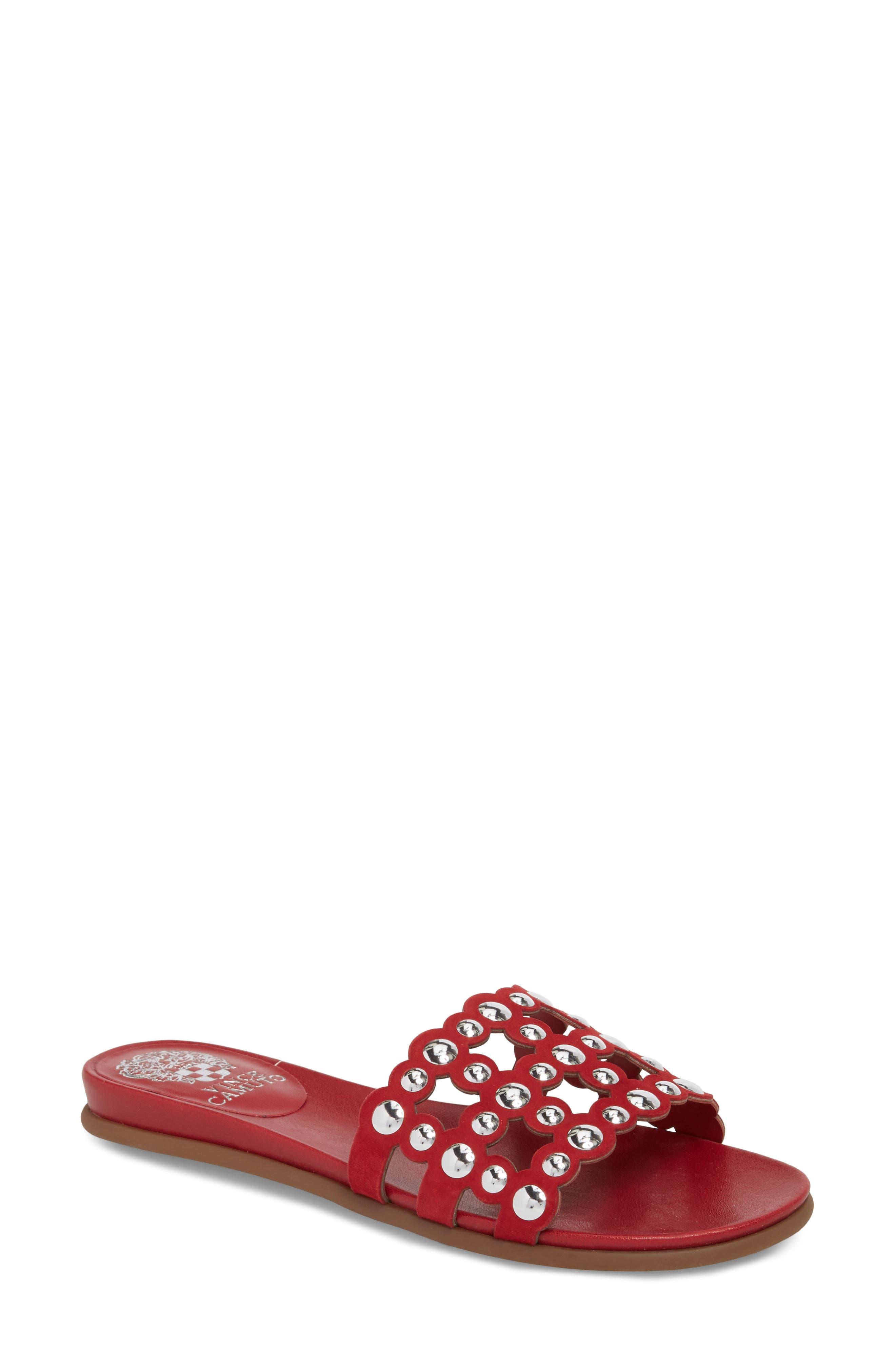 Vince Camuto Ellanna Studded Slide Sandal (Women)