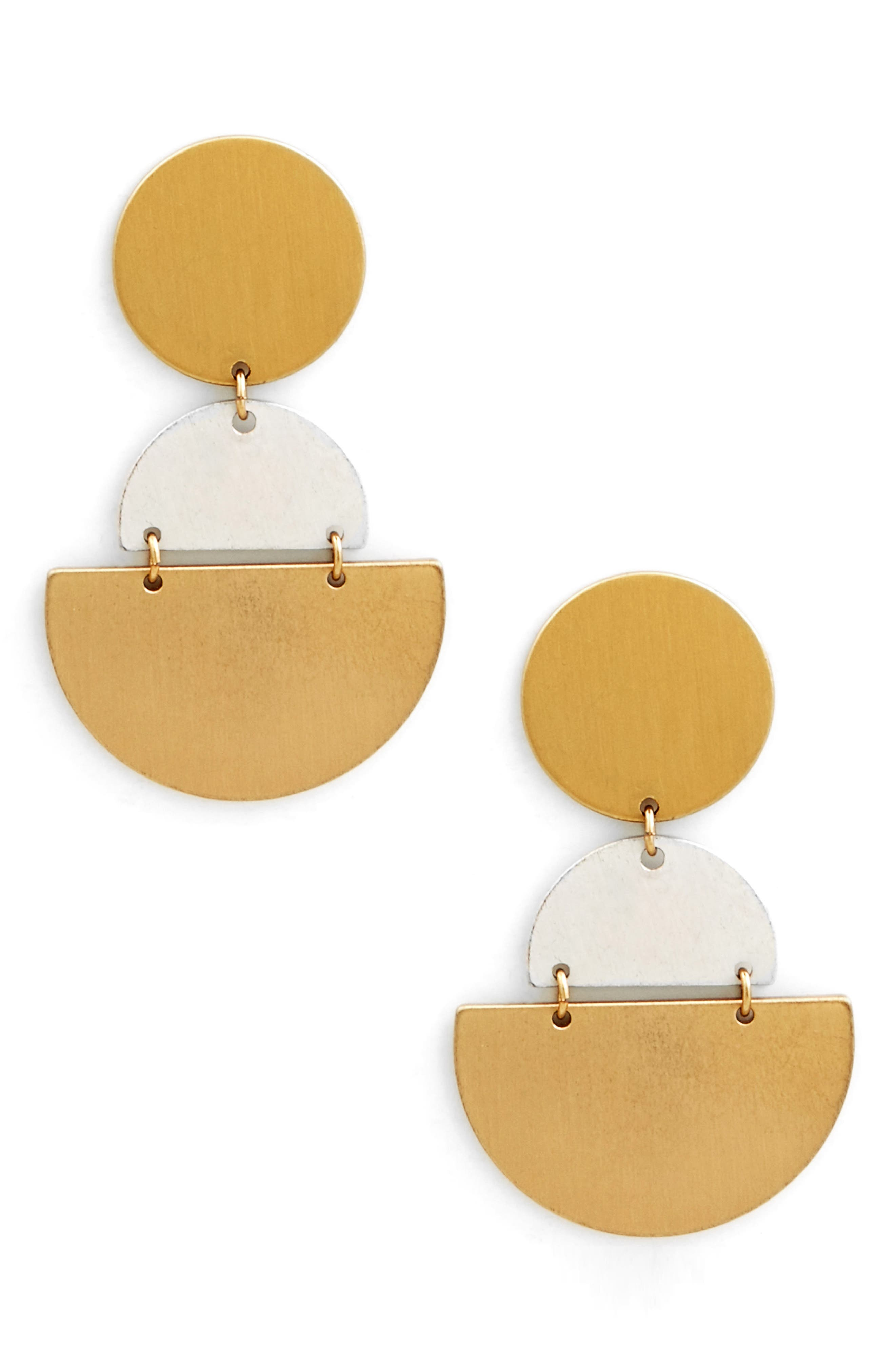 Tiered Geo Statement Earrings,                             Main thumbnail 1, color,                             Gold