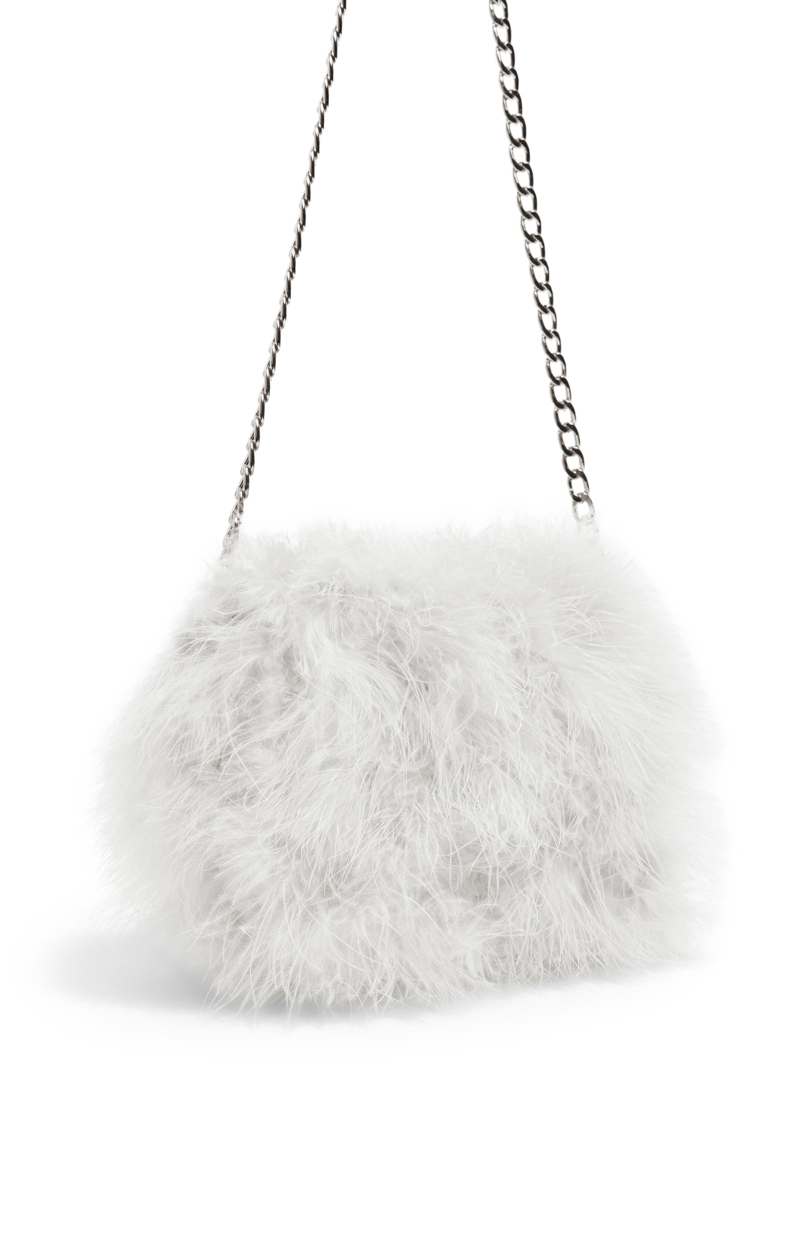 Riga Feather Crossbody Bag,                             Alternate thumbnail 3, color,                             White