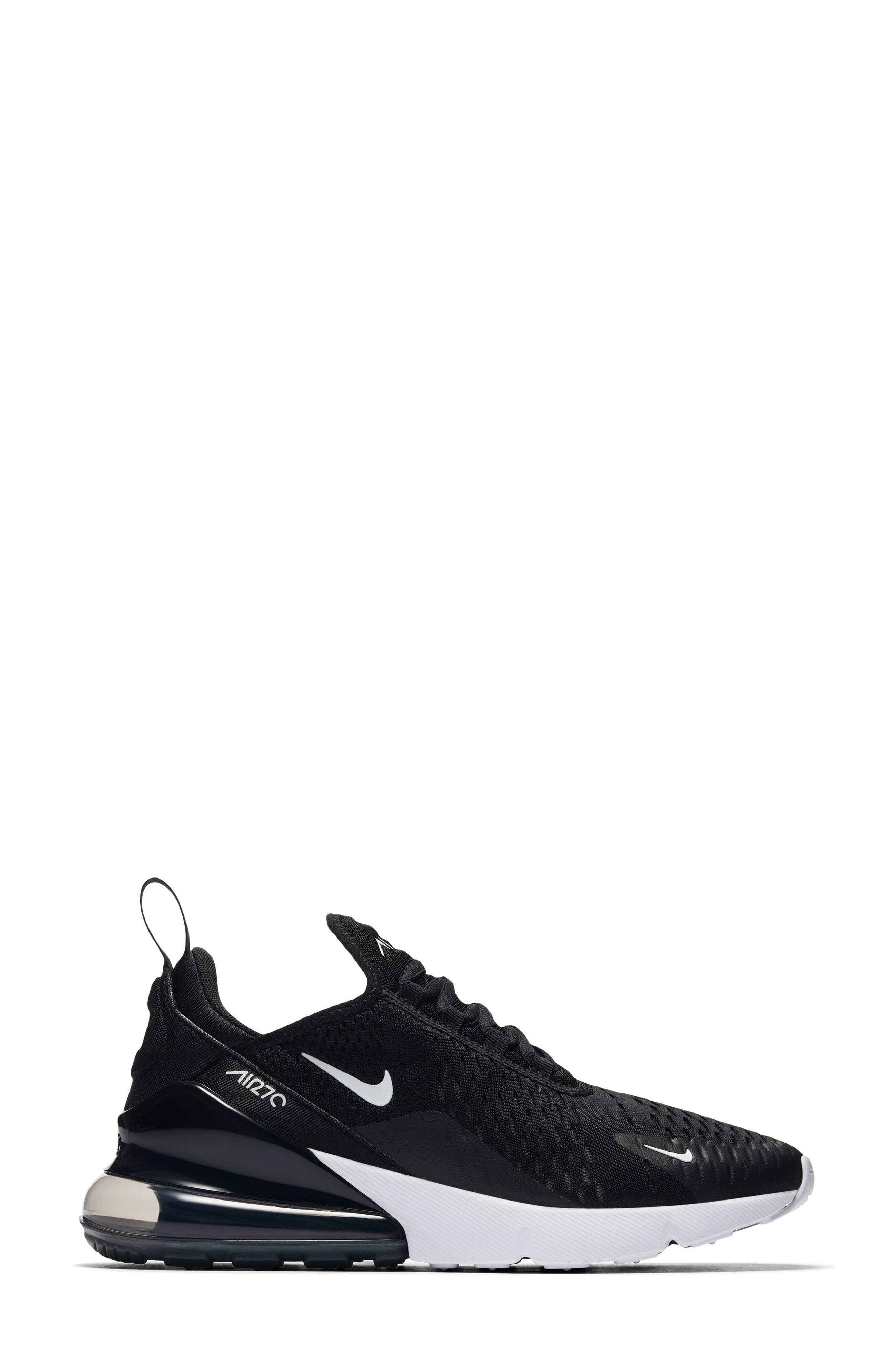 Air Max 270 Sneaker,                             Alternate thumbnail 2, color,                             Black/ Anthracite/ White