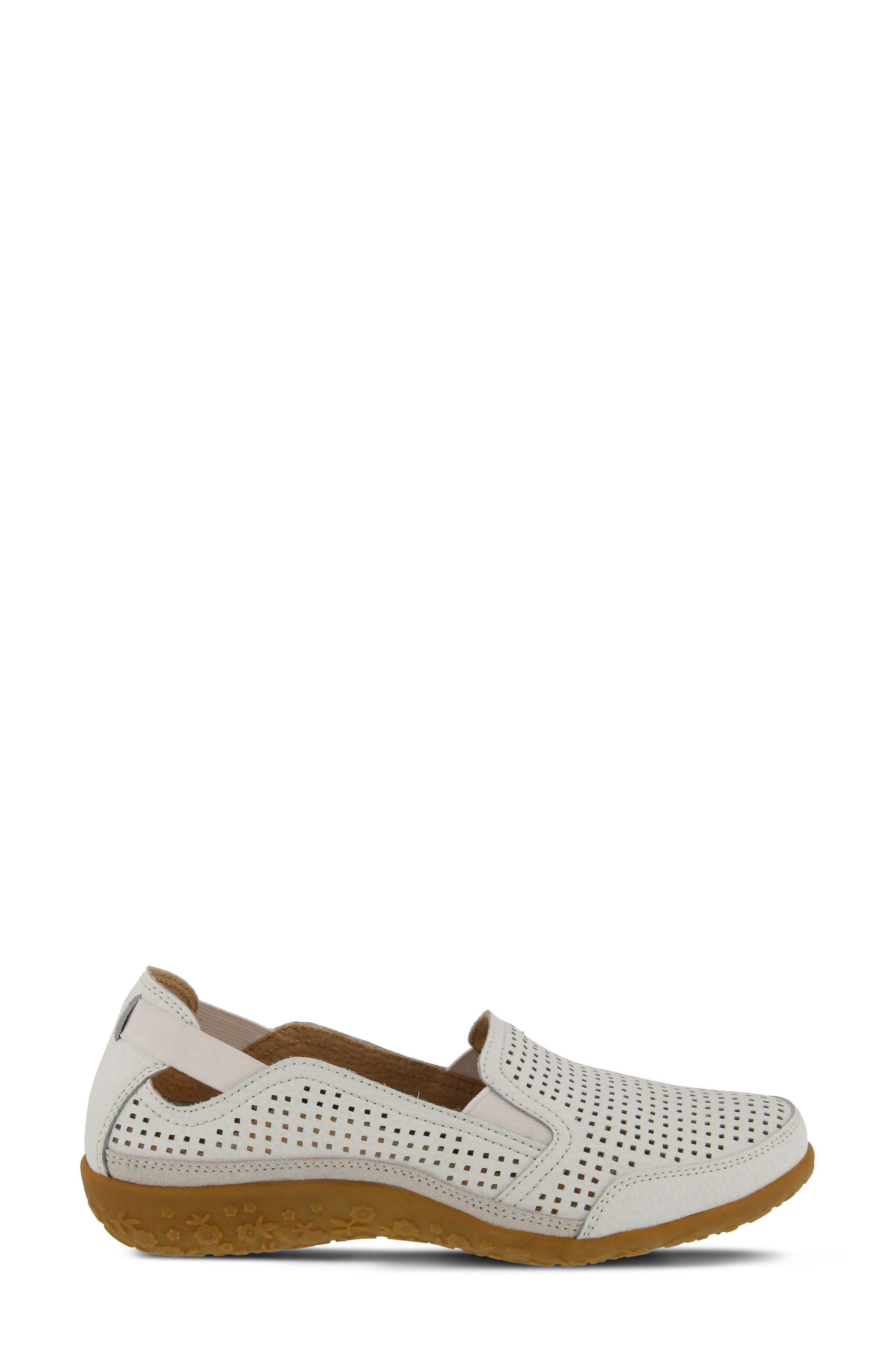 Juhi Flat,                             Alternate thumbnail 3, color,                             White Leather
