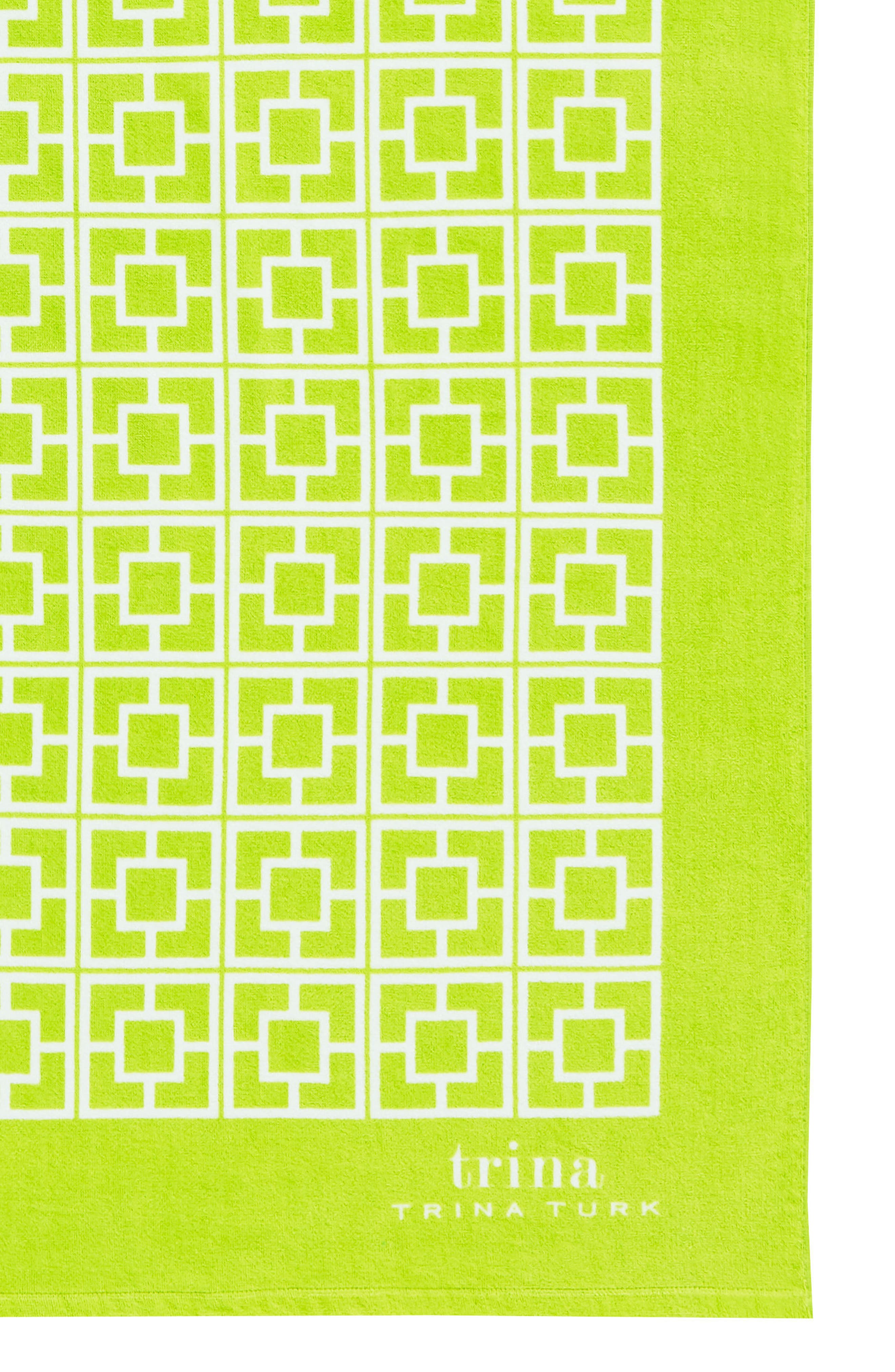 Palm Spring Block Beach Towel,                             Alternate thumbnail 2, color,                             Lime