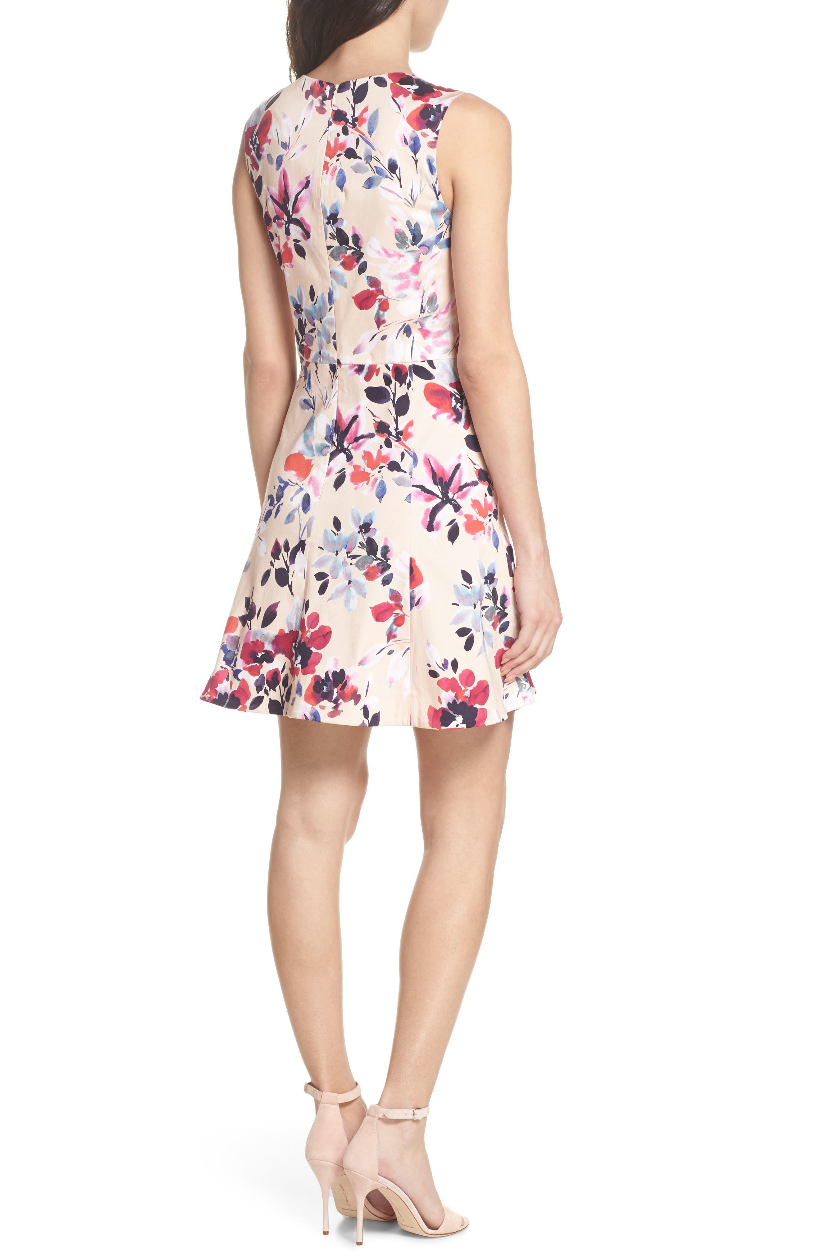 Linosa Fit & Flare Dress,                             Alternate thumbnail 2, color,                             Barley Pink