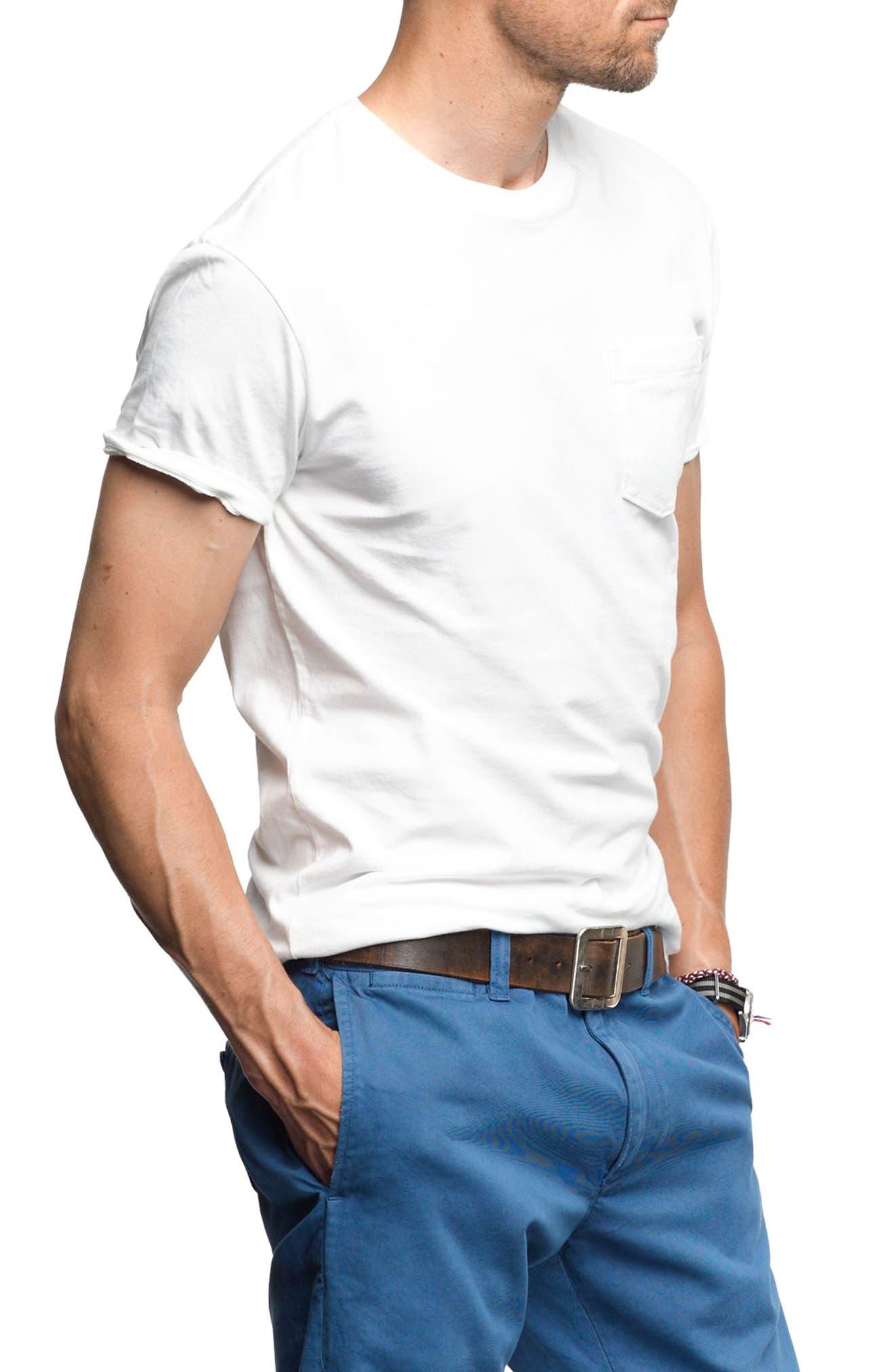 Alternate Image 3  - J.Crew Slim Fit Broken-In Pocket T-Shirt