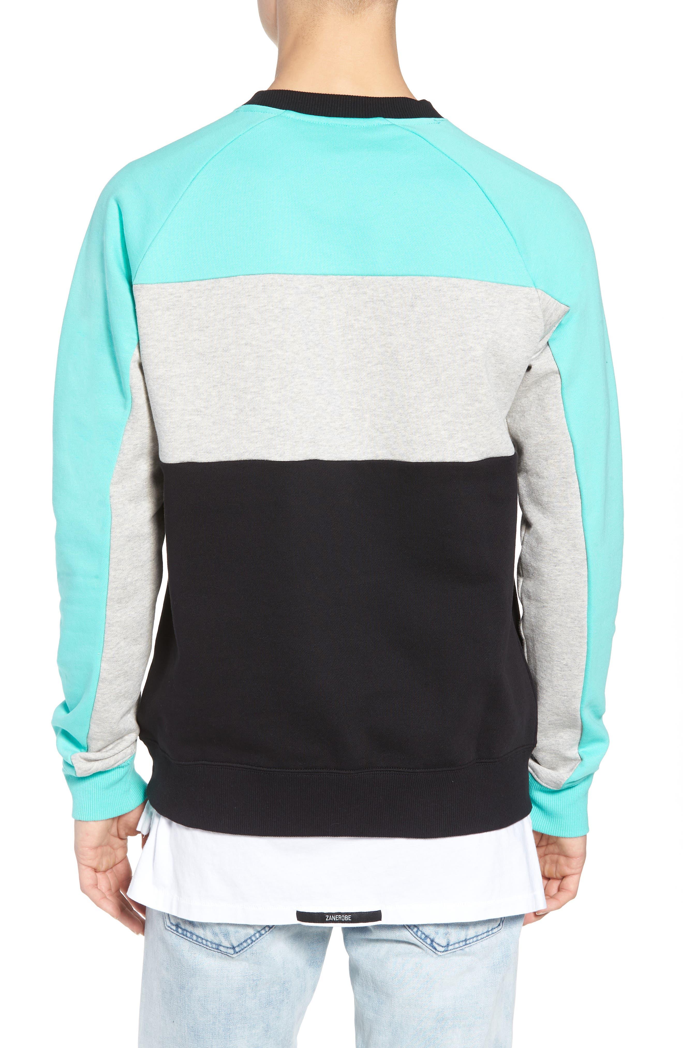 Layton Sweatshirt,                             Alternate thumbnail 2, color,                             Black/ Cockatoo/ Grey Marl