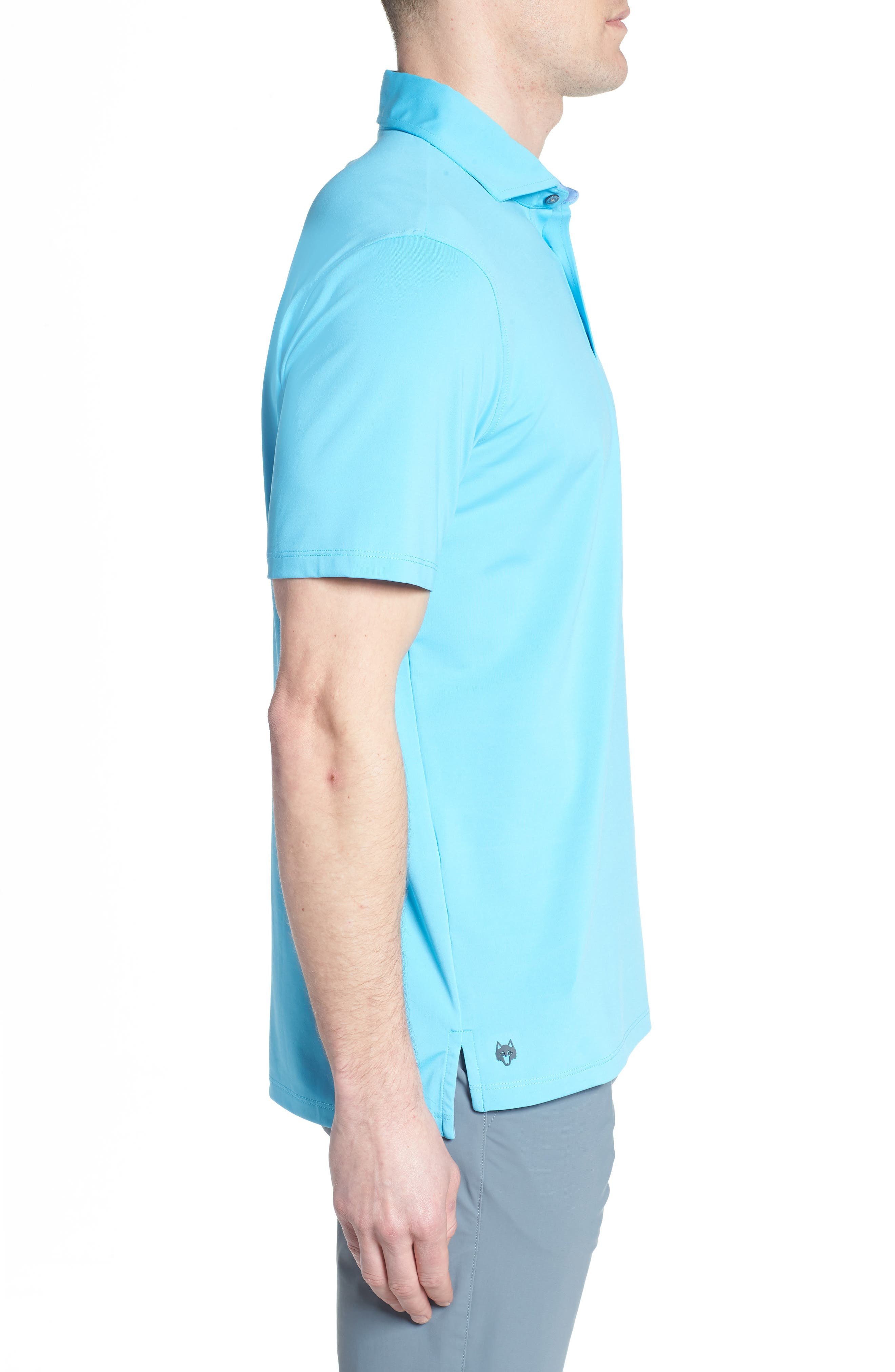 Tala Airflow Jersey Polo,                             Alternate thumbnail 3, color,                             Barracuda