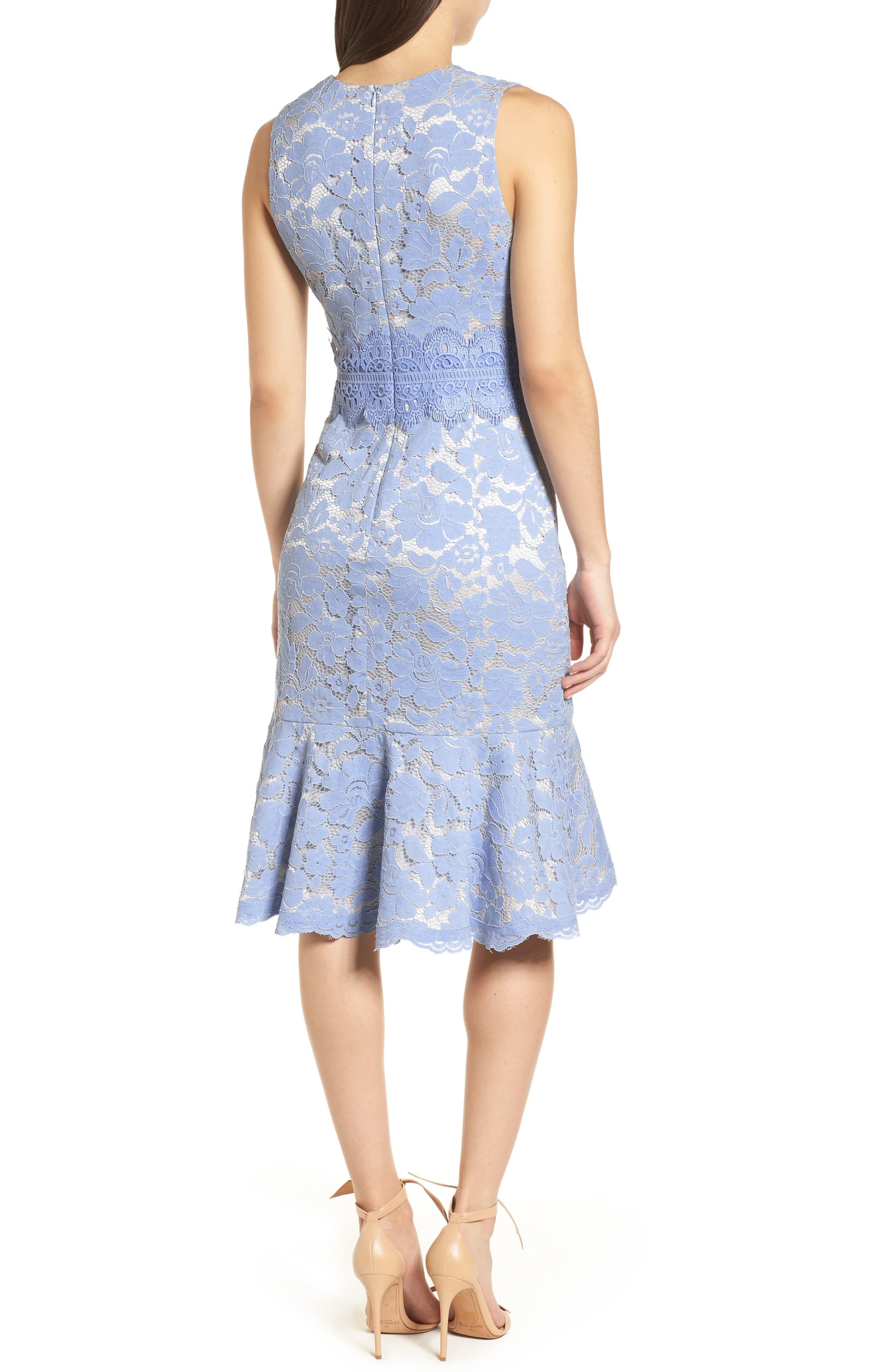 Alternate Image 2  - Vince Camuto Lace Sheath Dress (Regular & Petite)