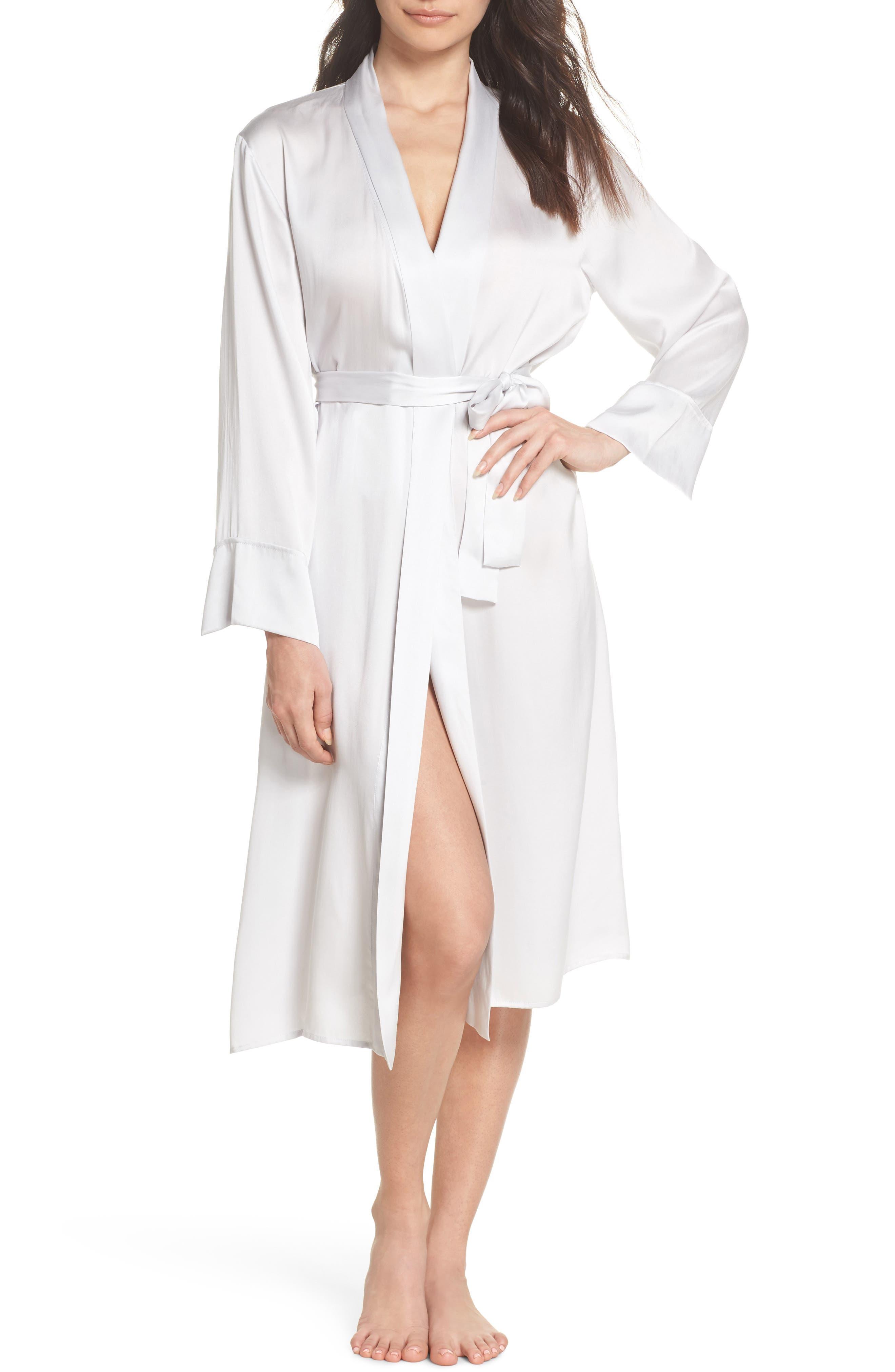 Silk Robe,                         Main,                         color, Ice Grey