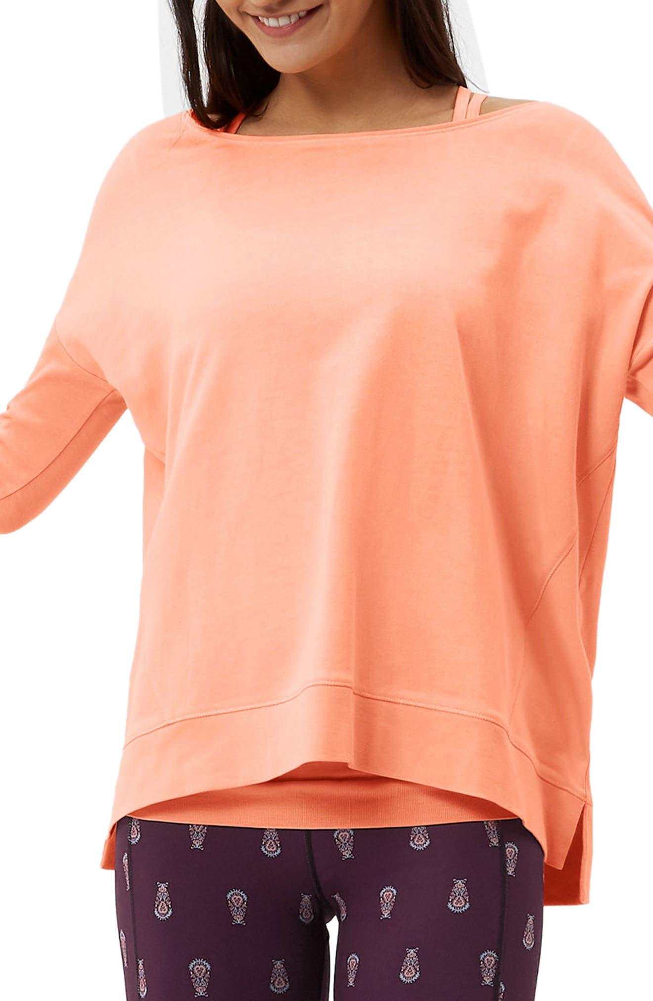 Simhasana Sweatshirt,                         Main,                         color, Papaya Punch