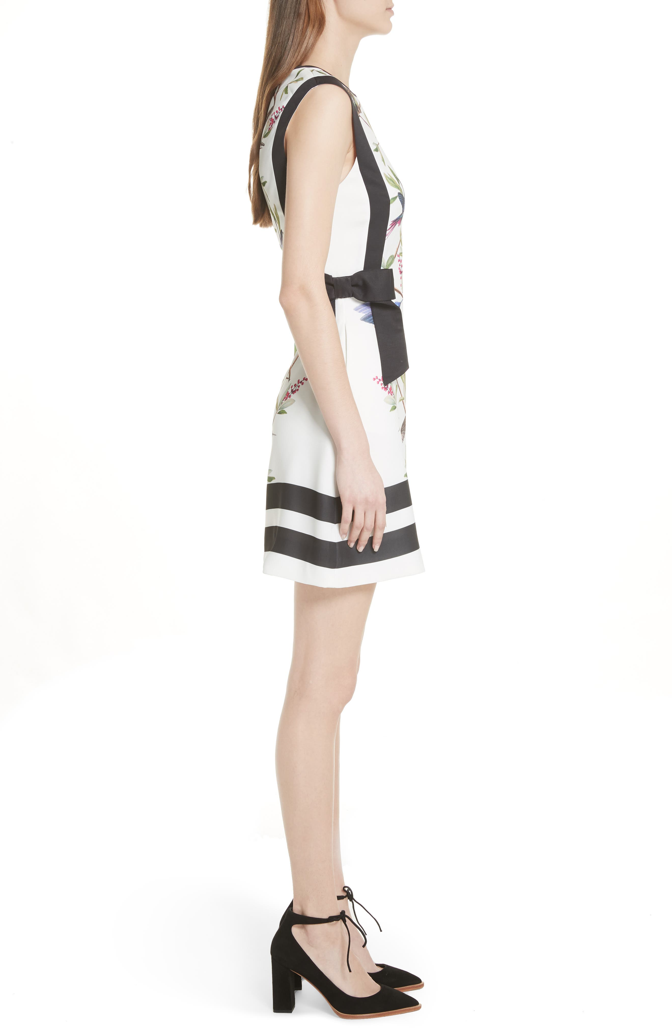 High Grove A-Line Dress,                             Alternate thumbnail 3, color,                             White
