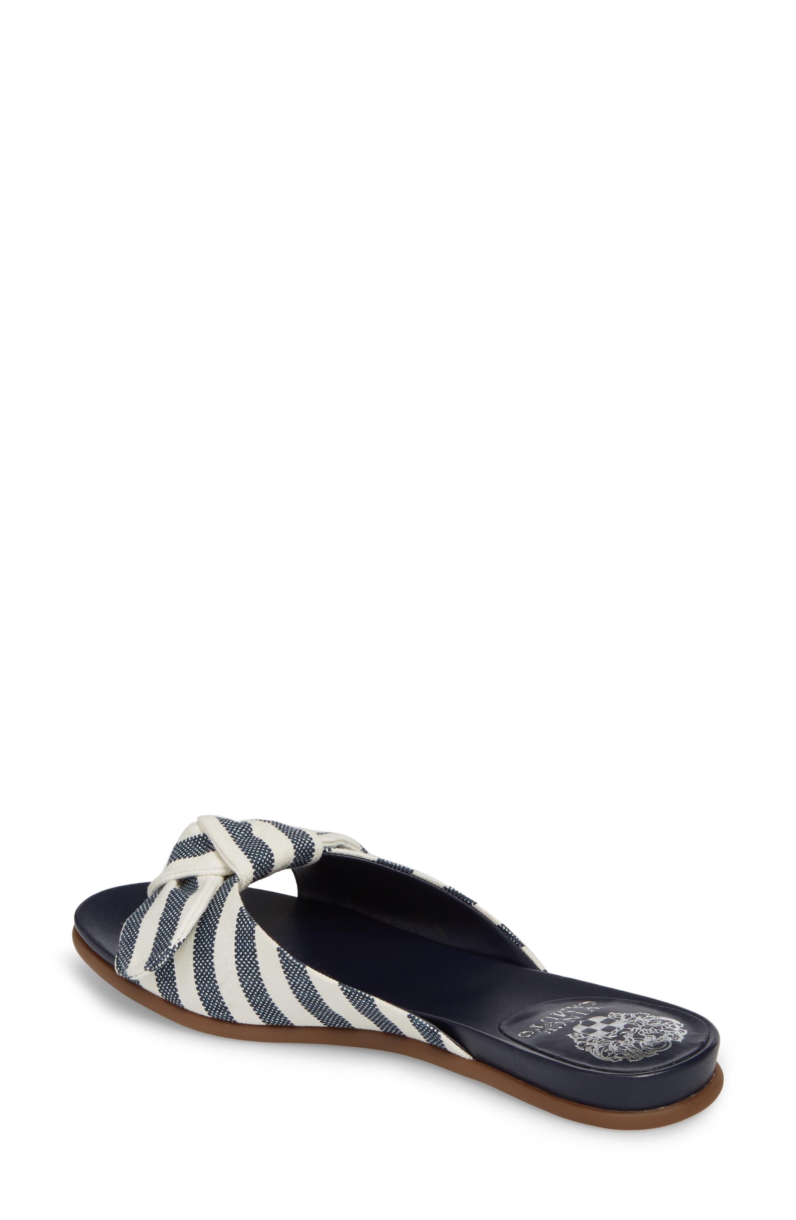 Ejella Slide Sandal,                             Alternate thumbnail 2, color,                             Blue/ Natural Stripe Canvas