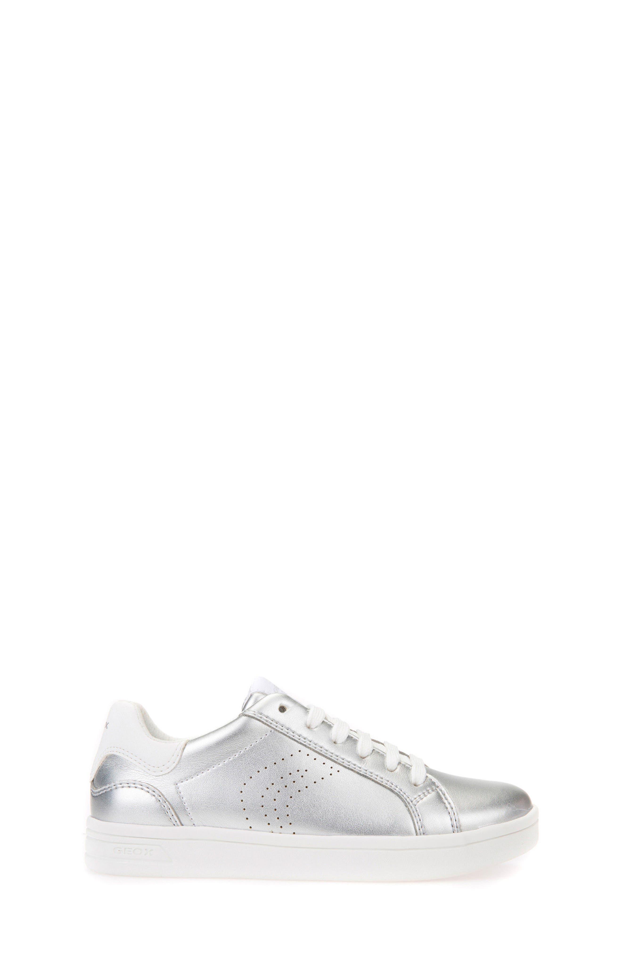 DJ Rock Metallic Low Top Sneaker,                             Alternate thumbnail 3, color,                             Silver