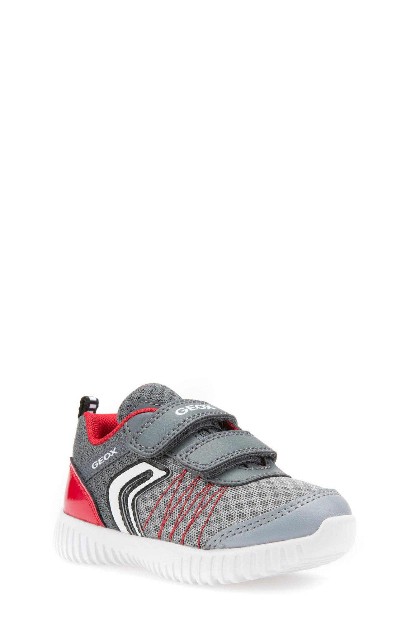 Waviness Sneaker,                         Main,                         color, Grey/ Red