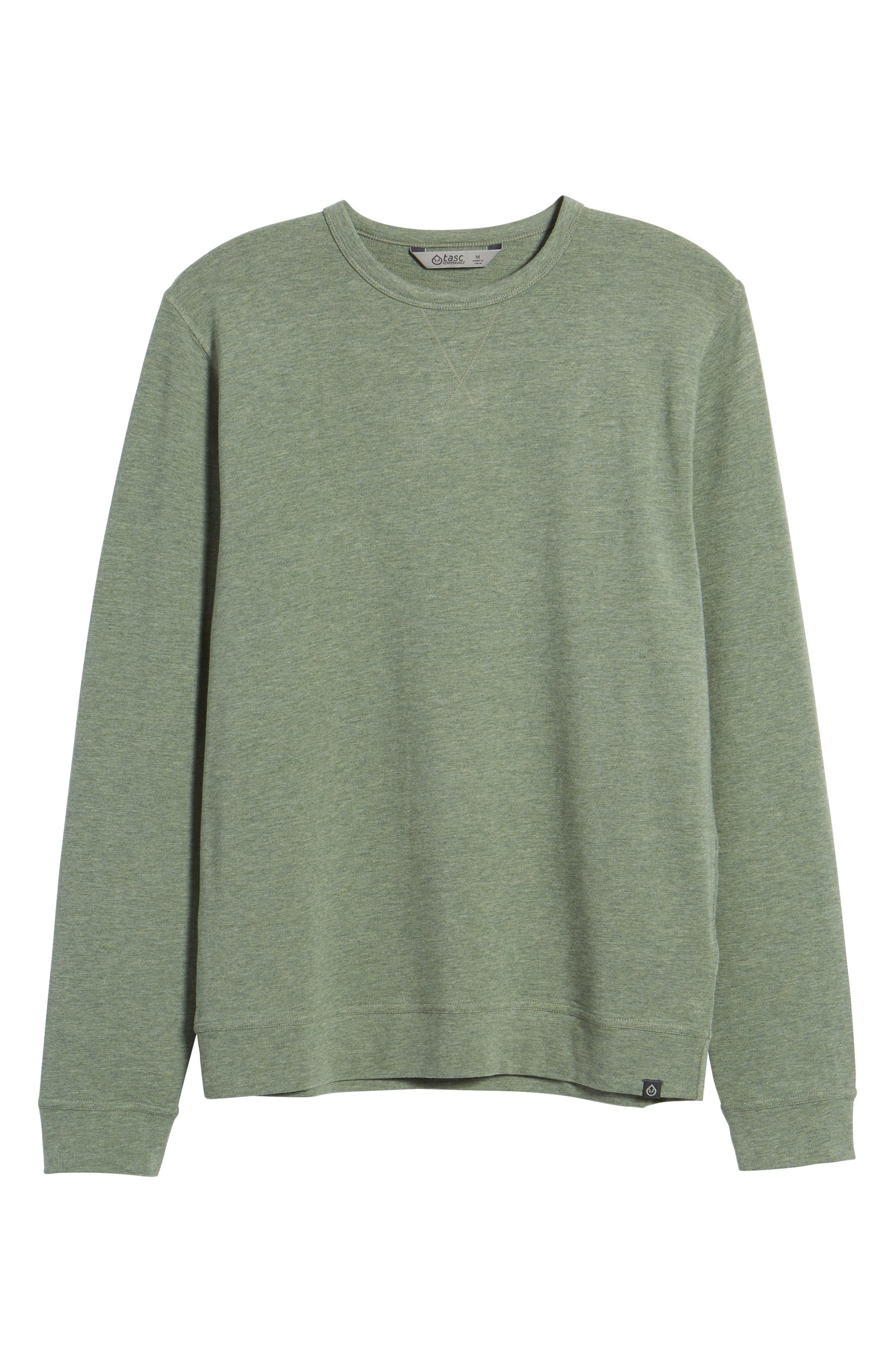 Legacy Crewneck Sweatshirt,                             Alternate thumbnail 6, color,                             Kelp Heather