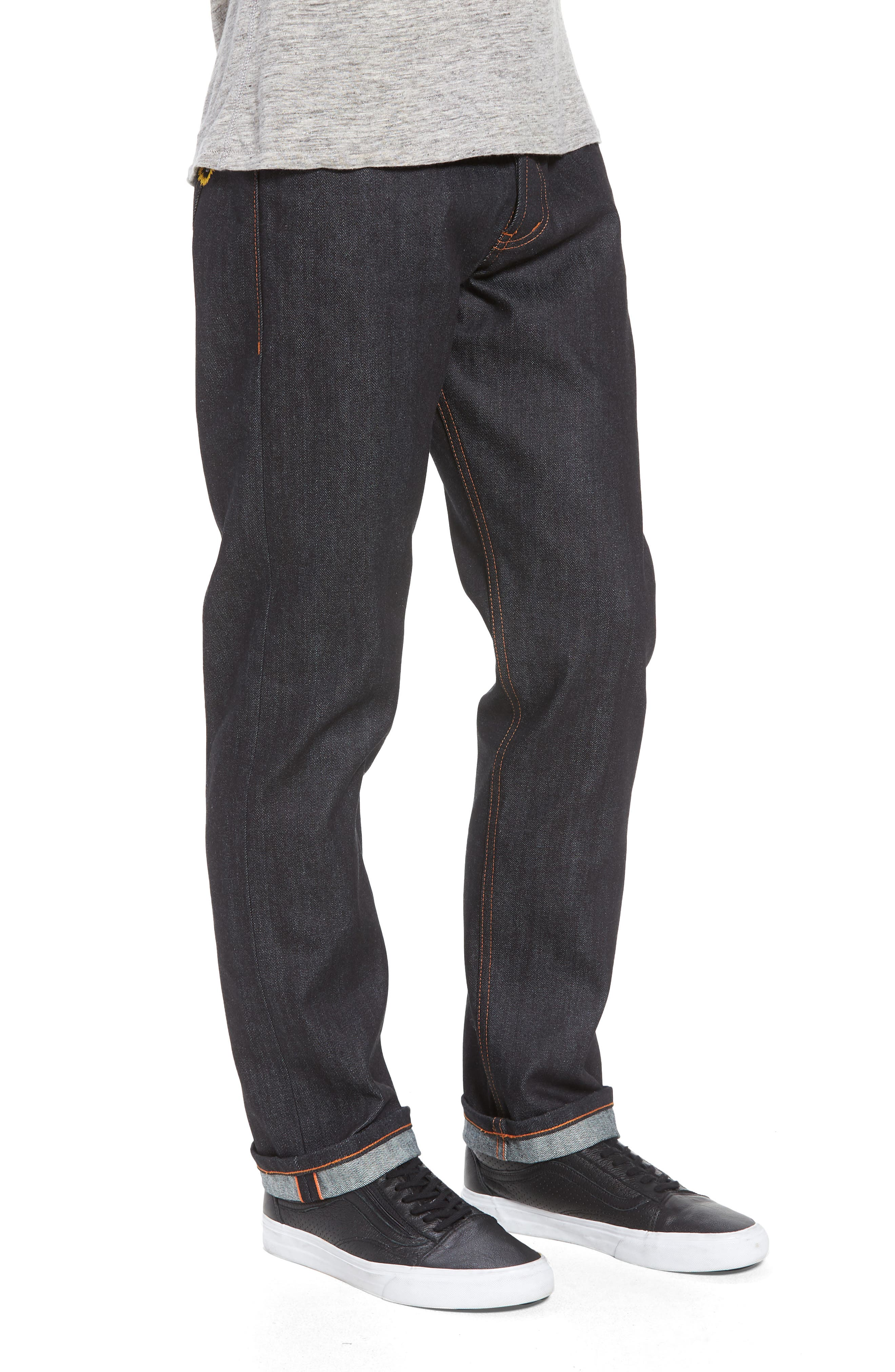 Naked & Famous Weird Guy Slim Fit Jeans,                             Alternate thumbnail 3, color,                             Indigo