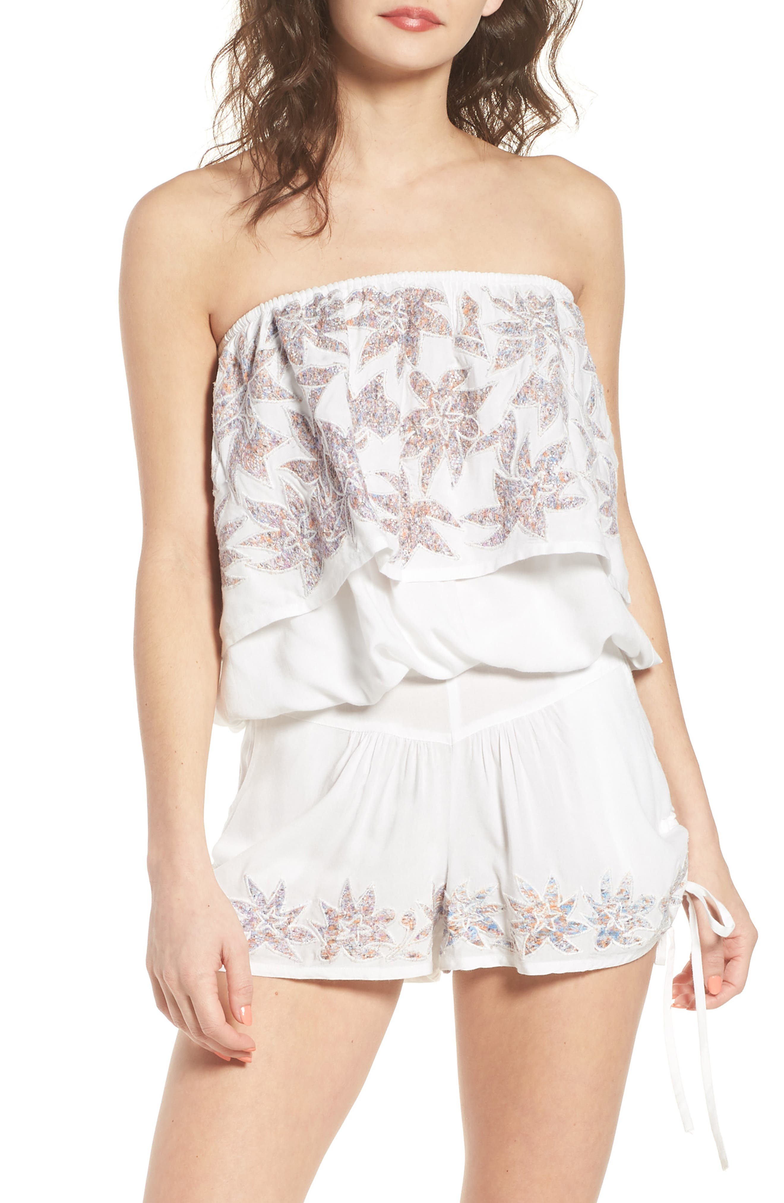 Raga Lotus Love Strapless Popover Top