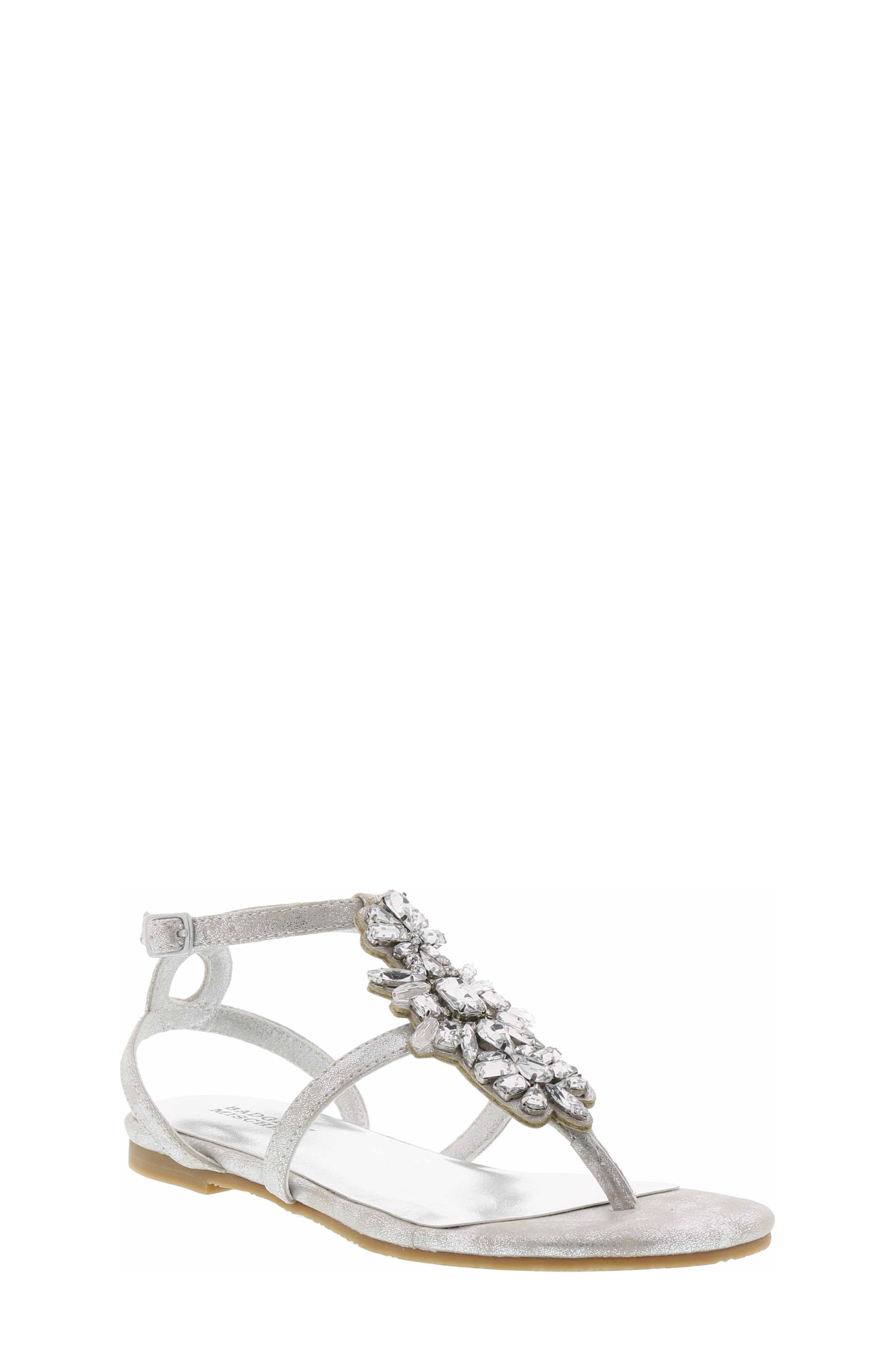Cara Barstow Embellished Sandal,                             Main thumbnail 1, color,                             Light Silver