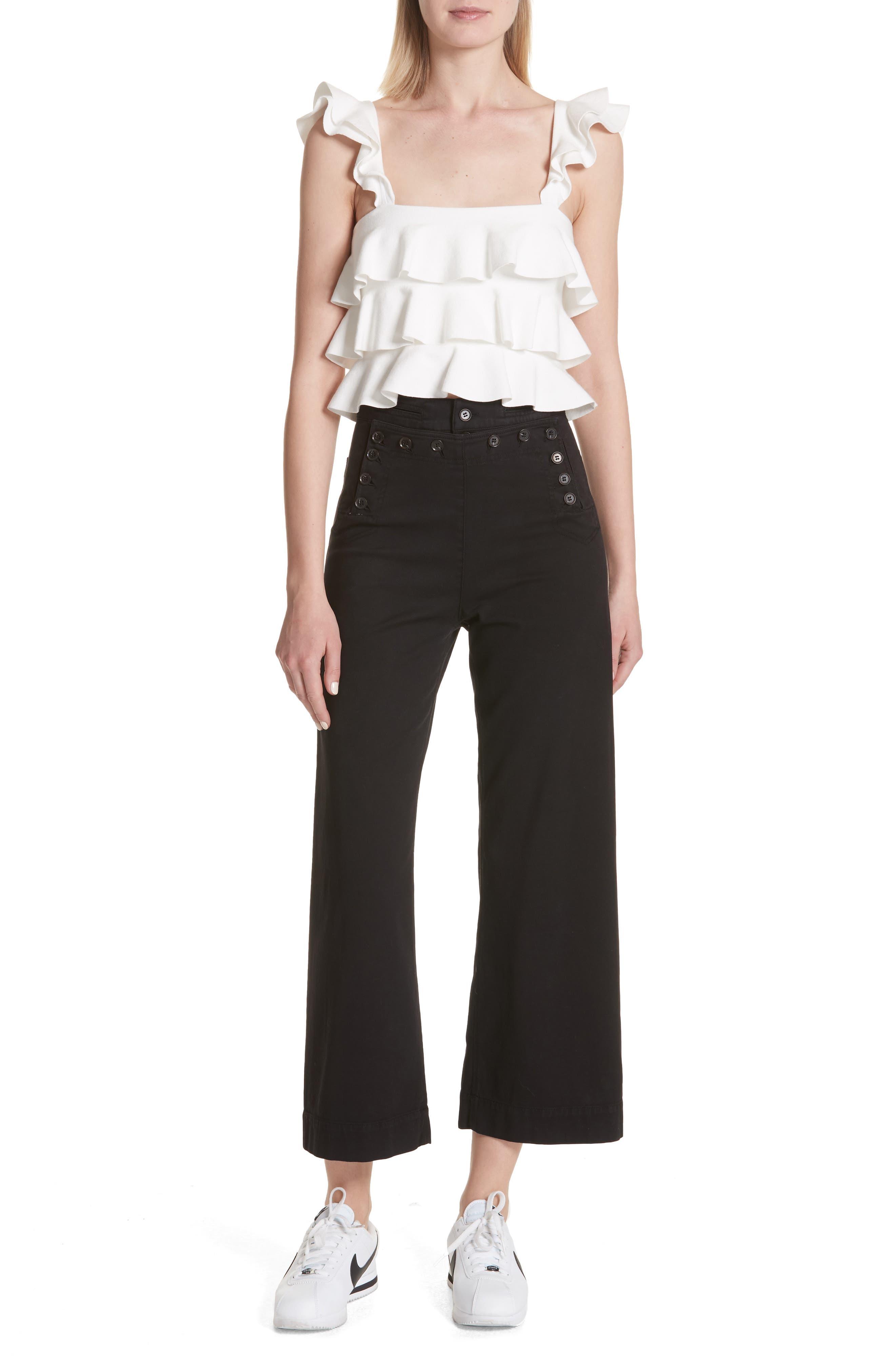 Pierce Crop Pants,                             Alternate thumbnail 7, color,                             Black
