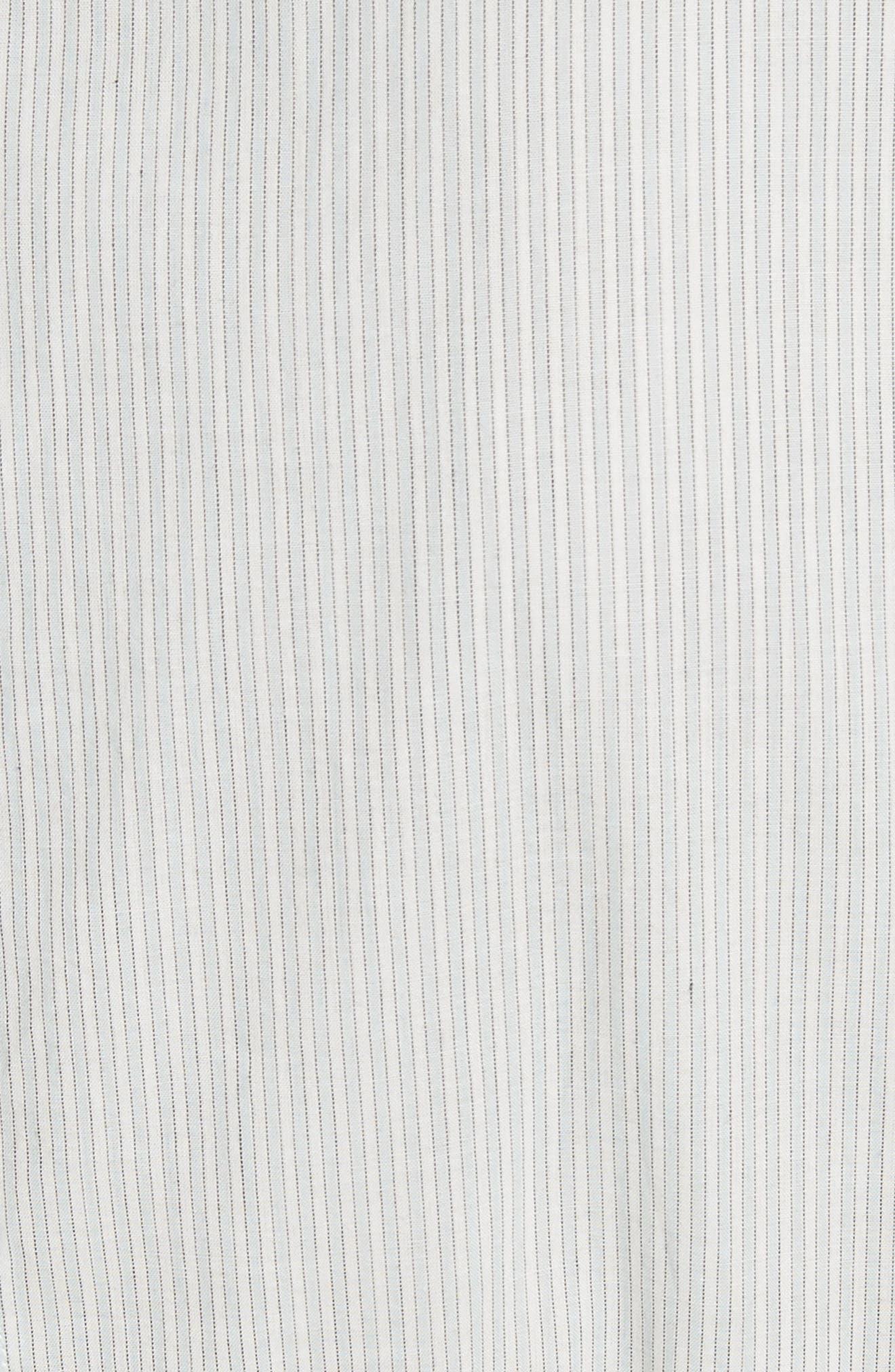 Mix Stripe Cotton Dress,                             Alternate thumbnail 4, color,                             Multi Combo