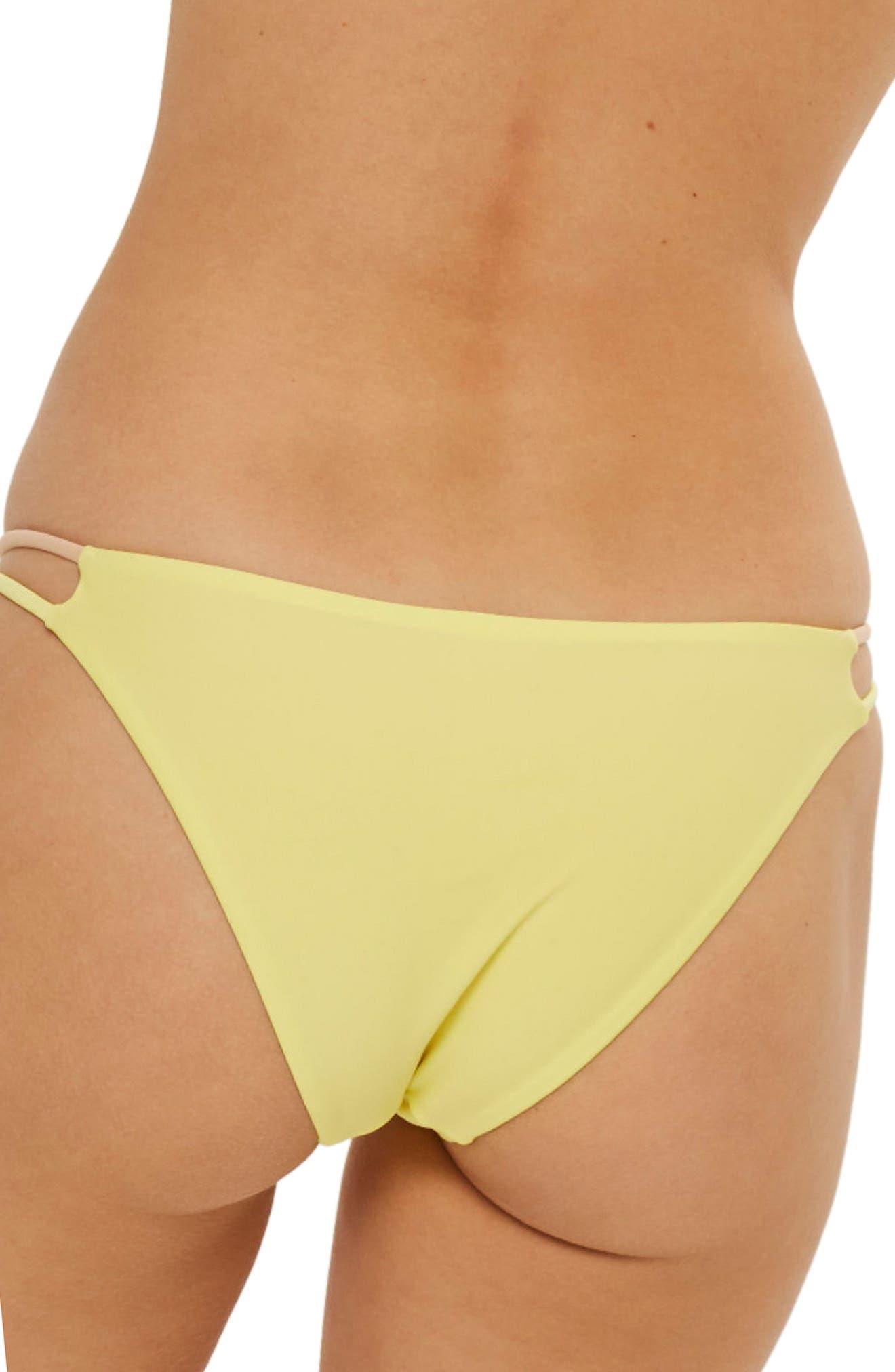 Colorblock Bikini Bottoms,                             Alternate thumbnail 2, color,                             Yellow Multi