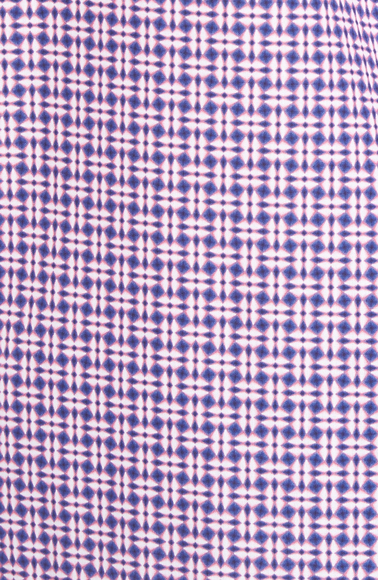 Classic Fit Woven Sport Shirt,                             Alternate thumbnail 5, color,                             Pink
