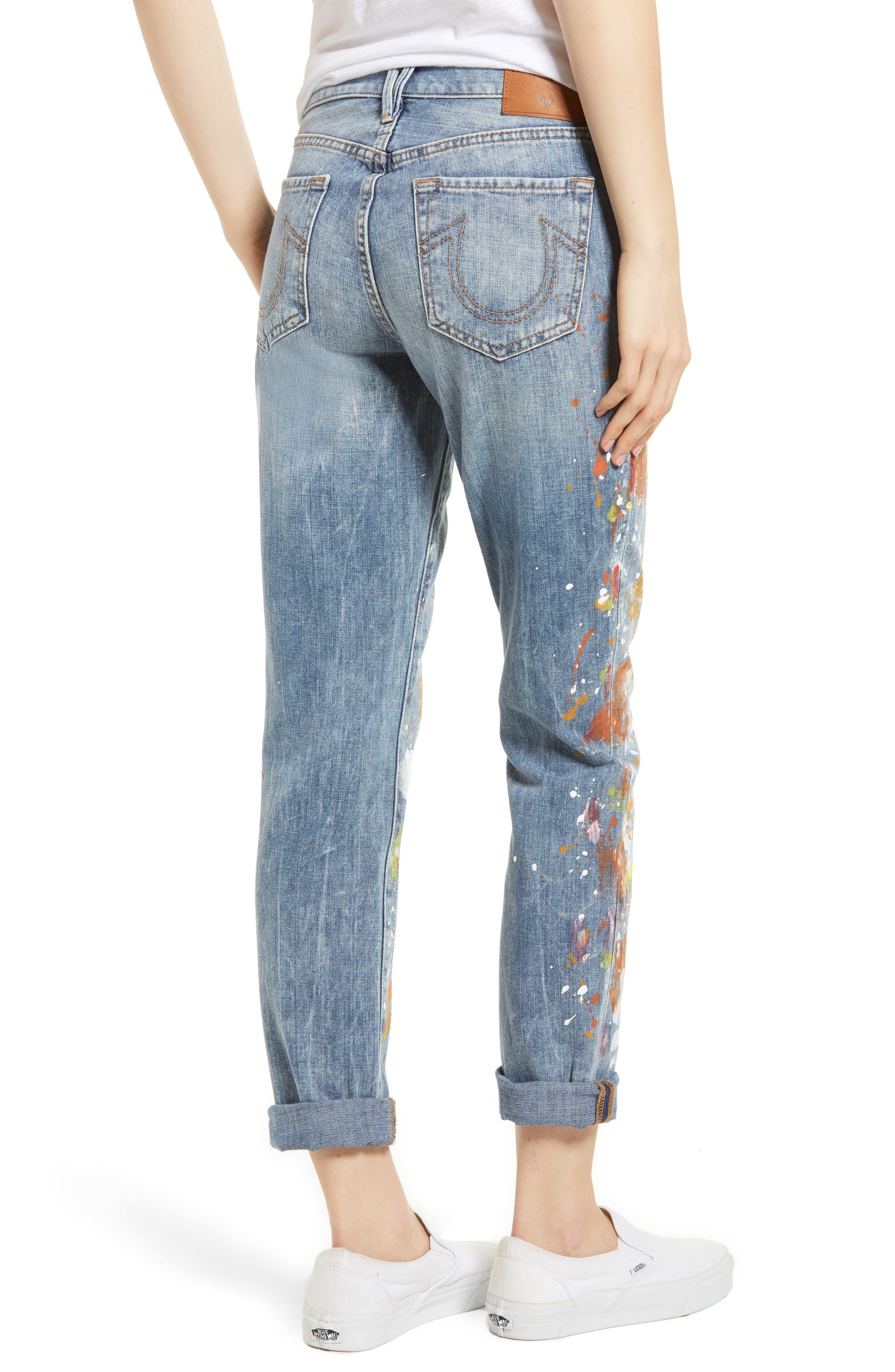 Cameron Slim Boyfriend Jeans,                             Alternate thumbnail 2, color,                             Erwm Popm Art