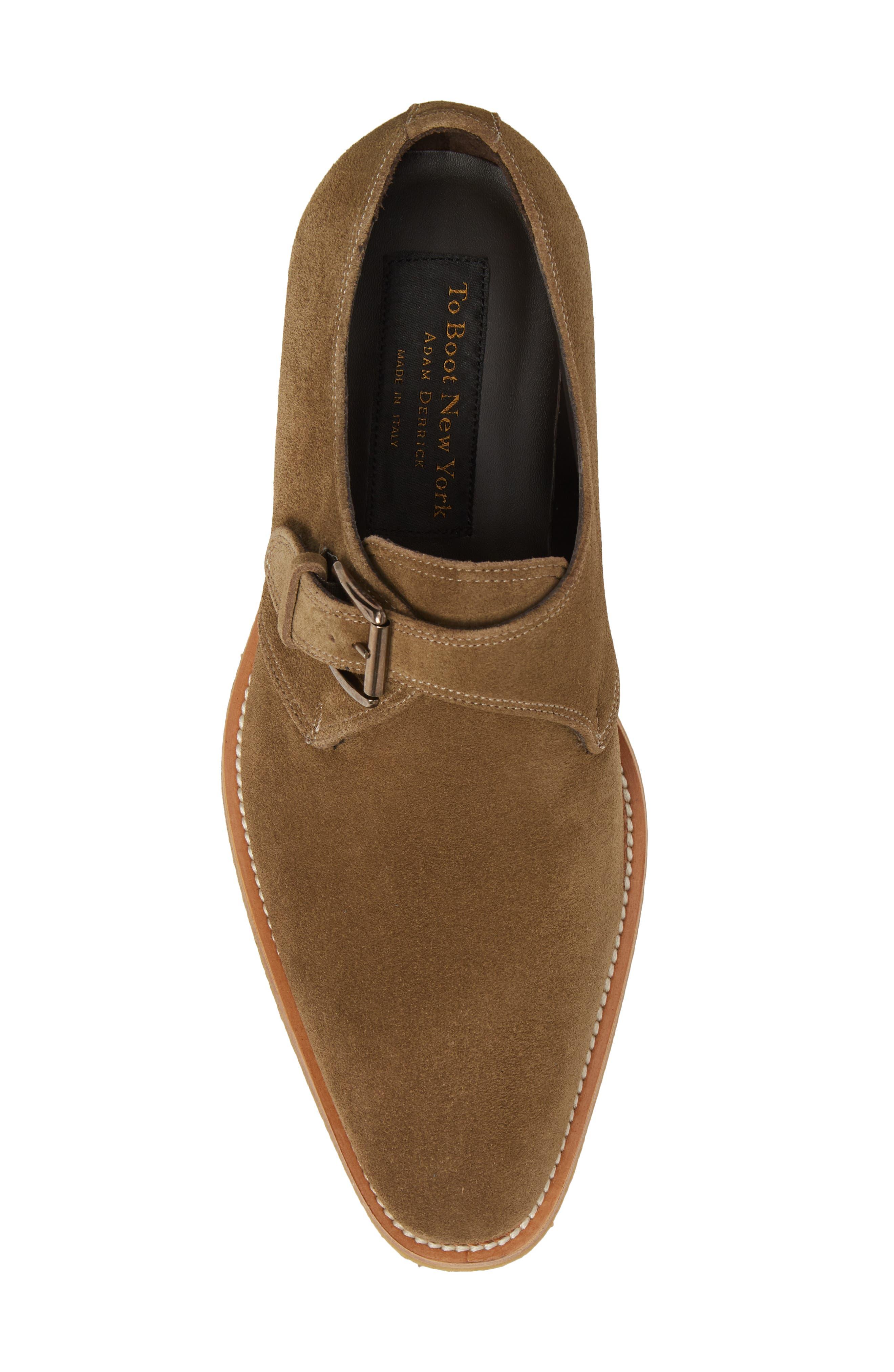 Baldwin Plain Toe Monk Shoe,                             Alternate thumbnail 5, color,                             Taupe Suede