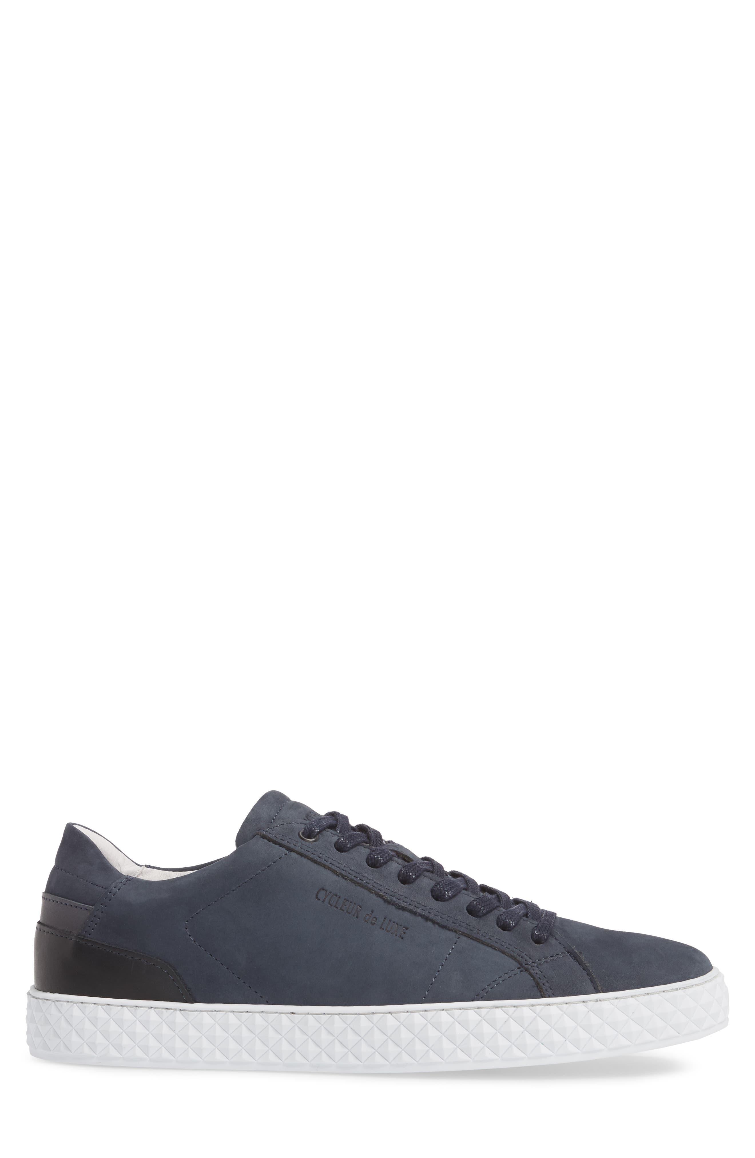 Bratislava Low Top Sneaker,                             Alternate thumbnail 3, color,                             Navy Leather