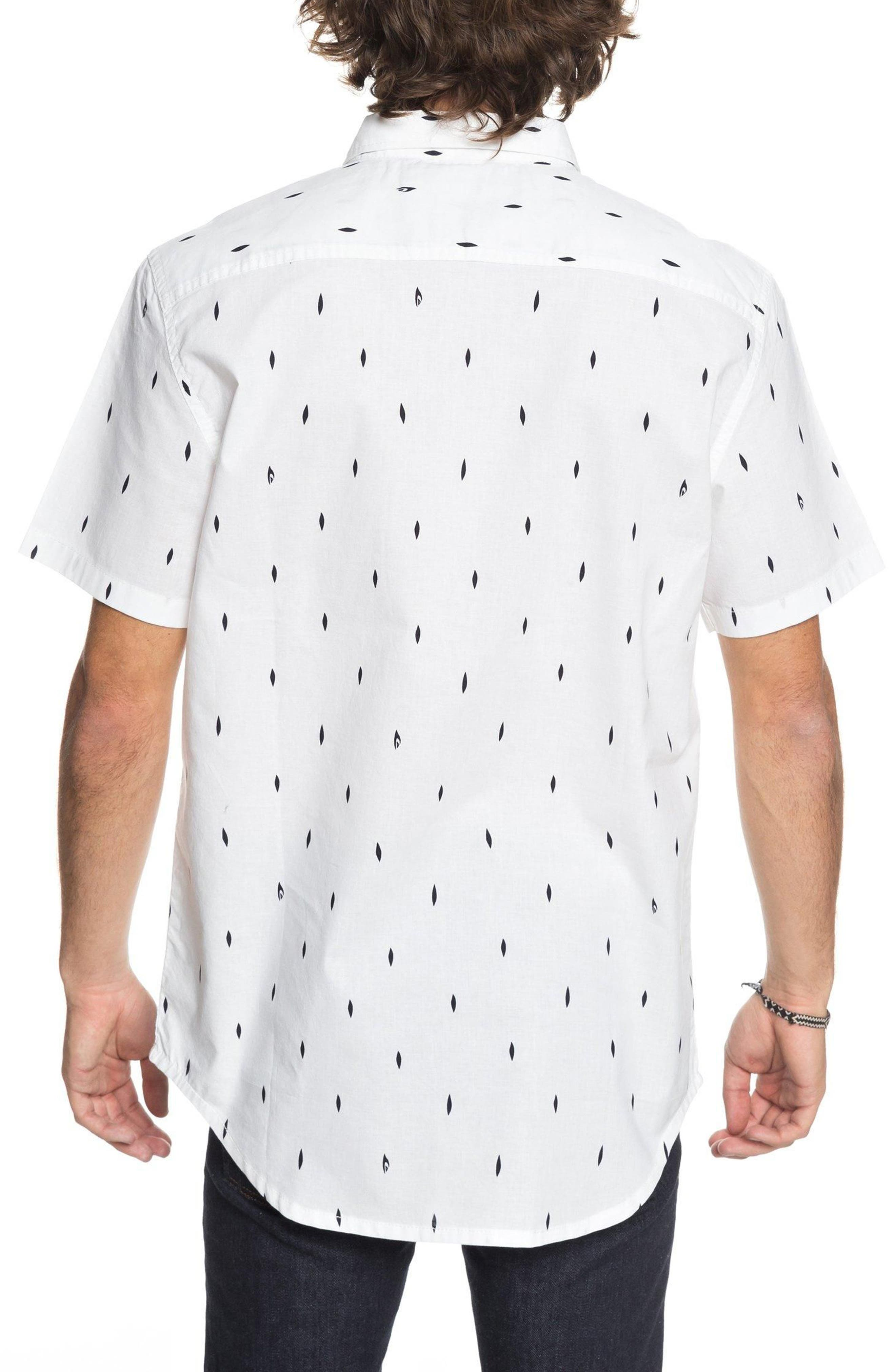 Abstract Boards Woven Shirt,                             Alternate thumbnail 2, color,                             Snow White