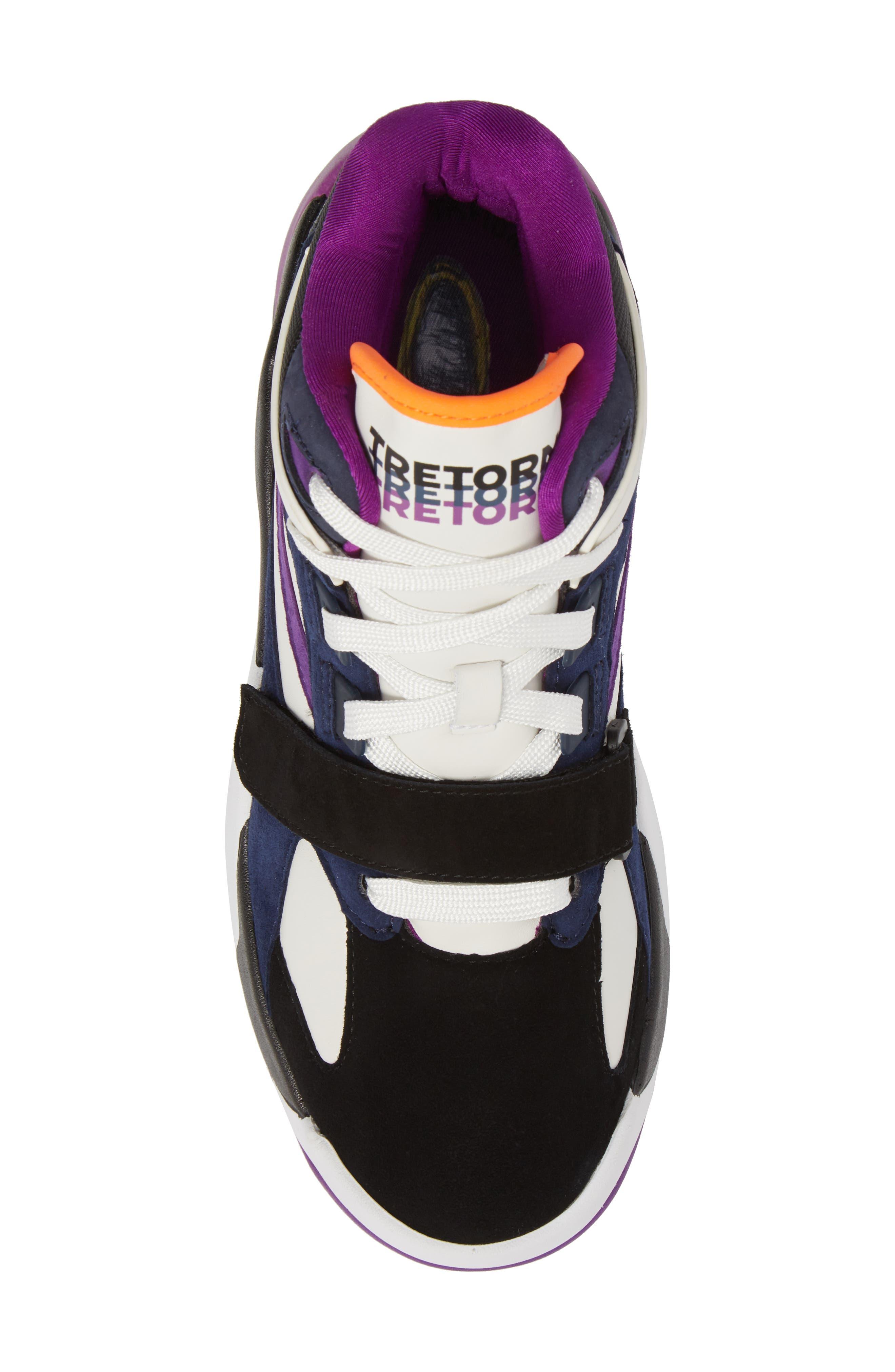 Andre 3000 Bostad 2 High Top Sneaker,                             Alternate thumbnail 5, color,                             Black/ White/ Purple