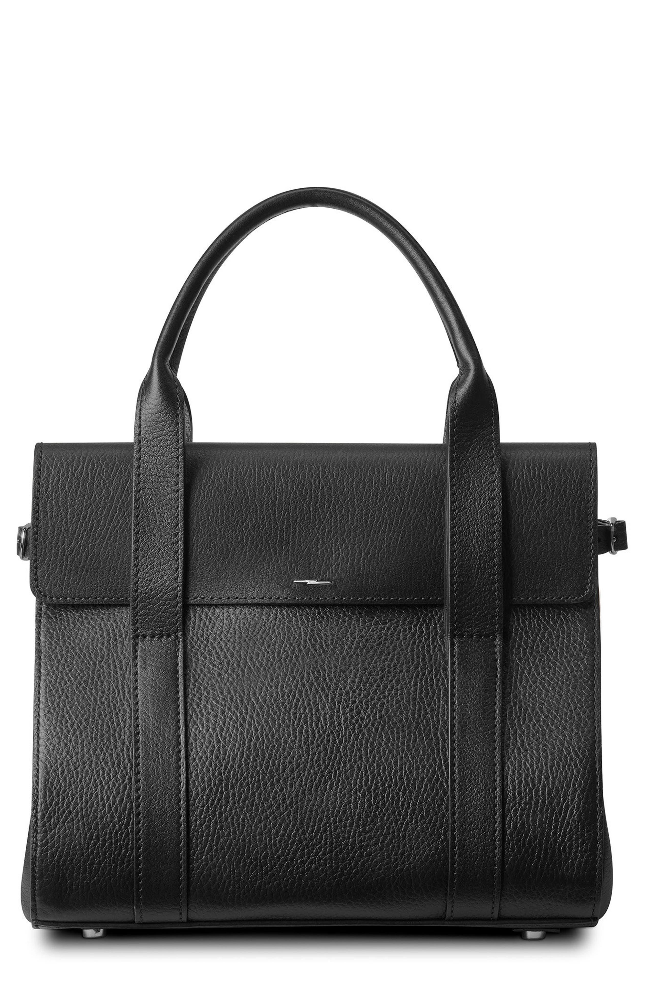 Shinola Small Grained Leather Satchel