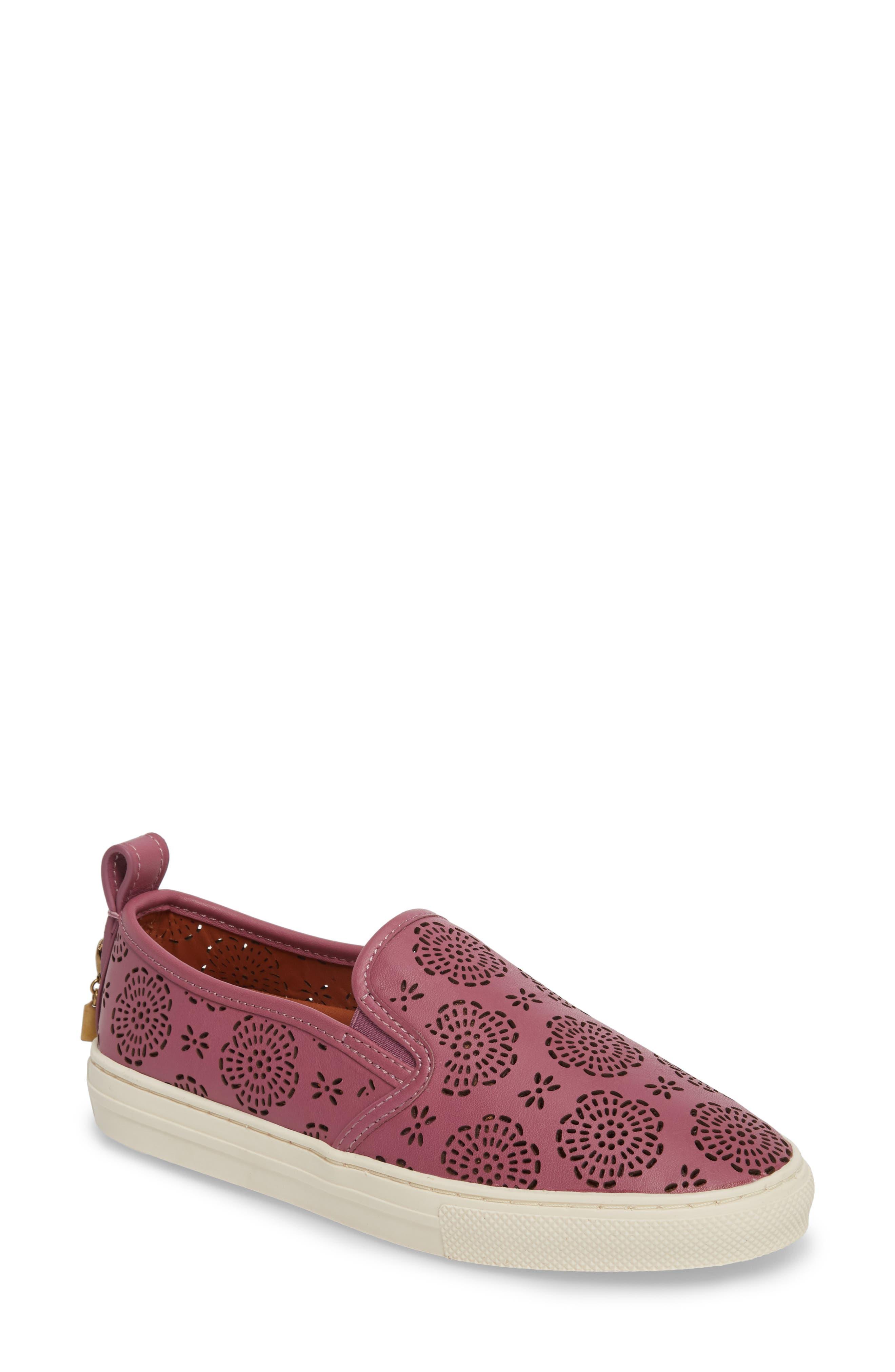 COACH Tea Rose Cutout Slip-On Sneaker (Women)