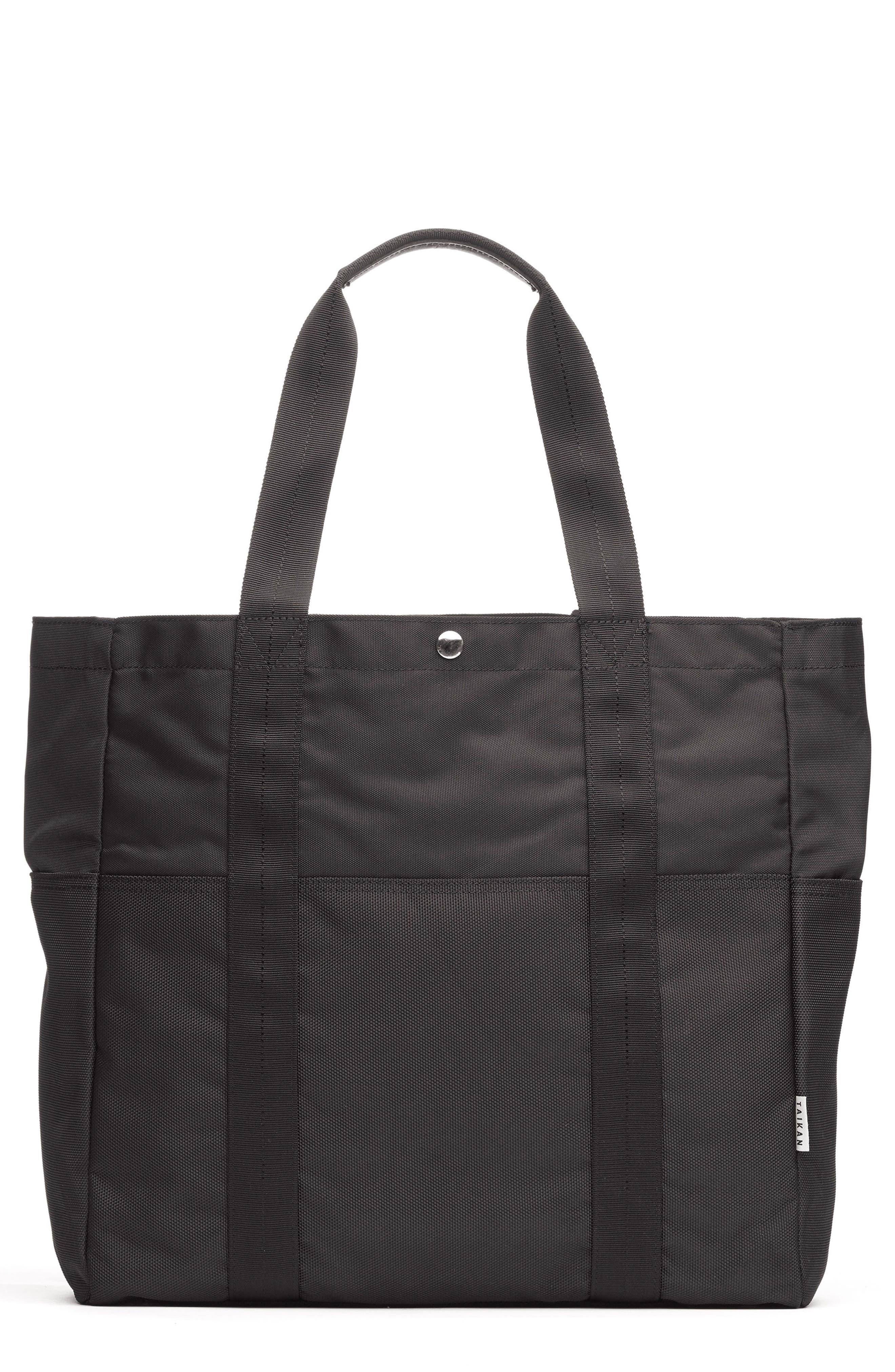 Tote Bag,                         Main,                         color, Matte Black