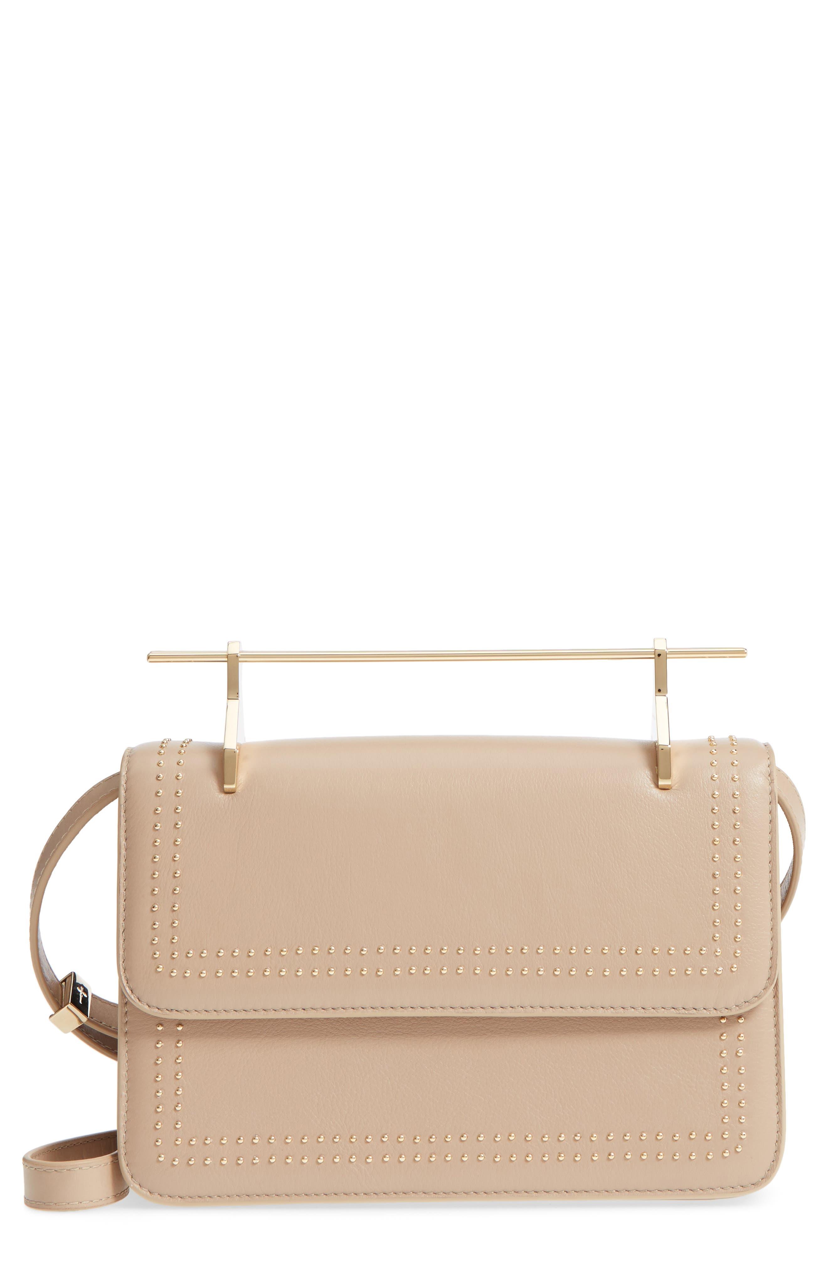 M2Malletier La Fleur du Mal Studded Leather Shoulder Bag