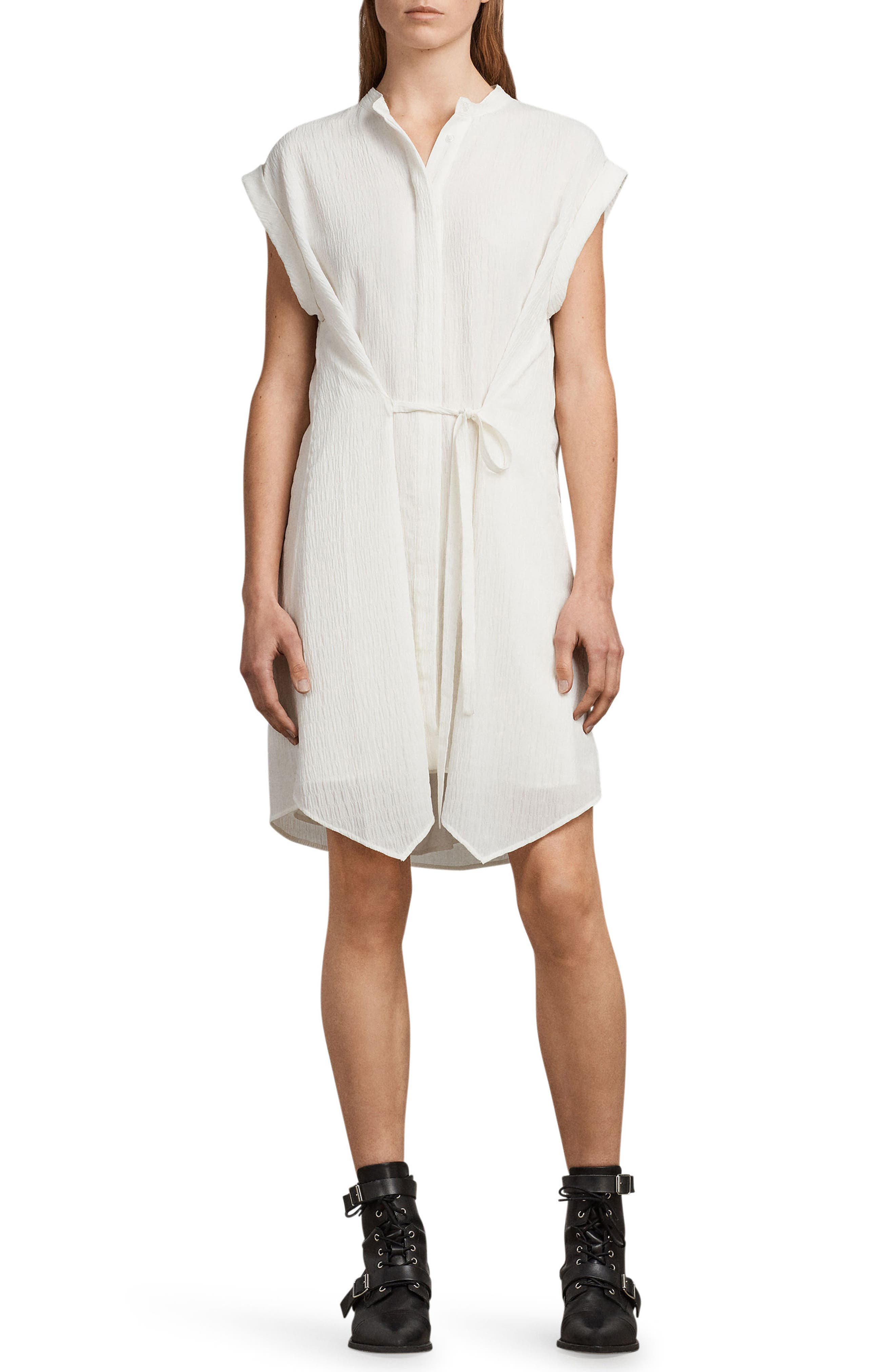 ALLSAINTS Meda Textured Shirtdress