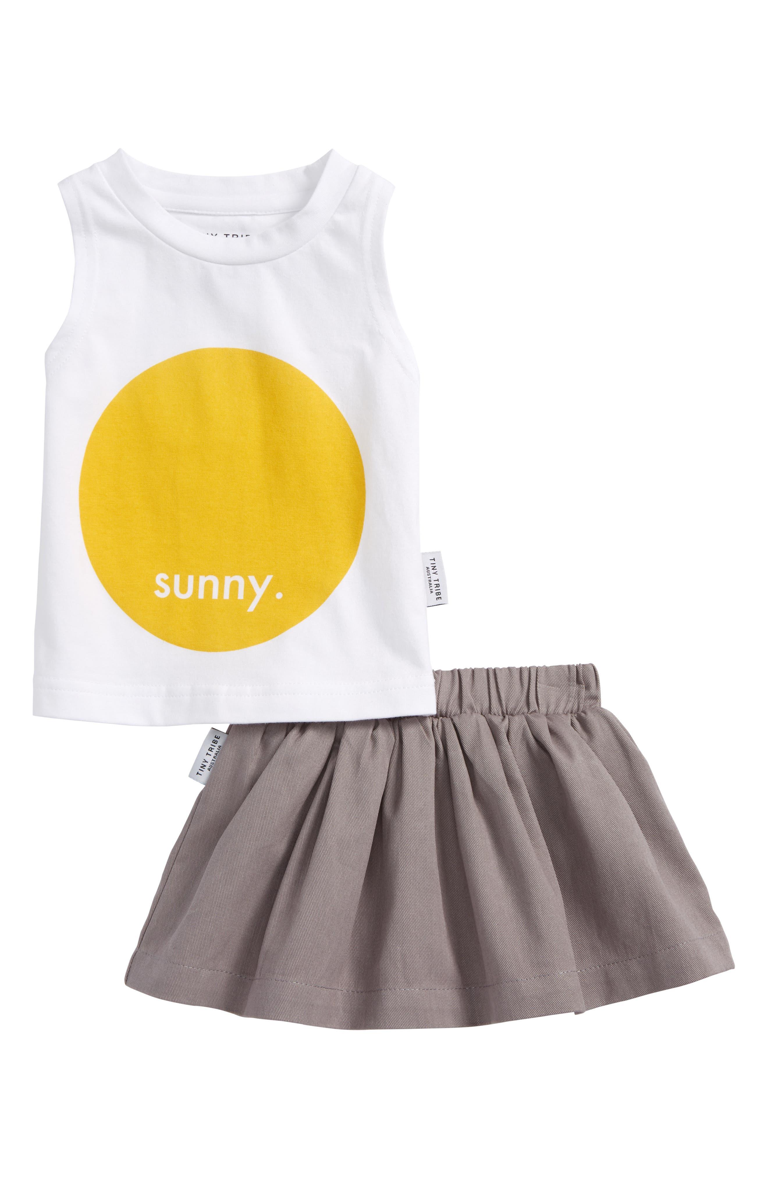 Tiny Tribe Sunny Tank & Skirt Set (Baby Girls)