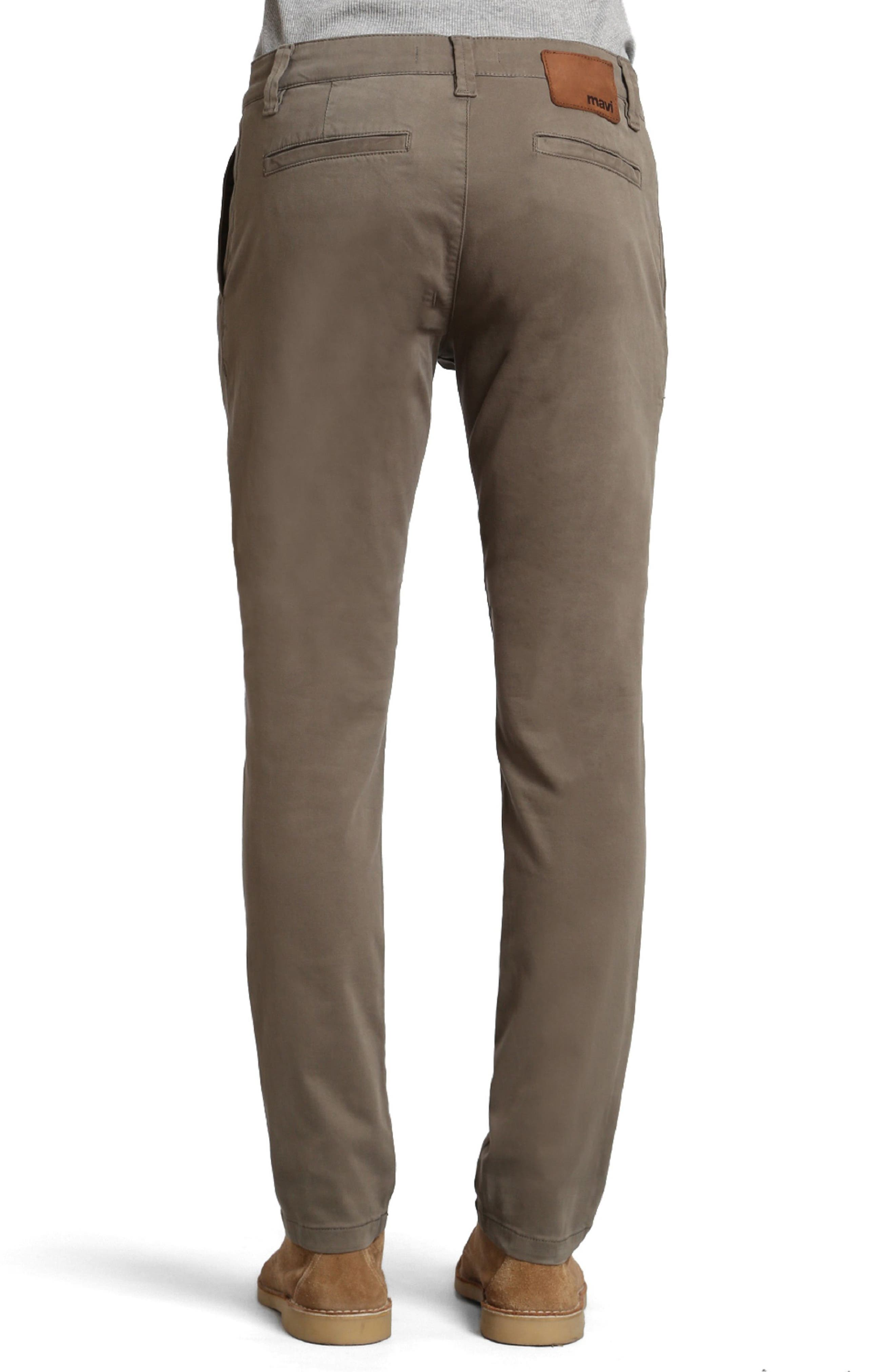 Johnny Twill Pants,                             Alternate thumbnail 2, color,                             Dusty Olive Twill