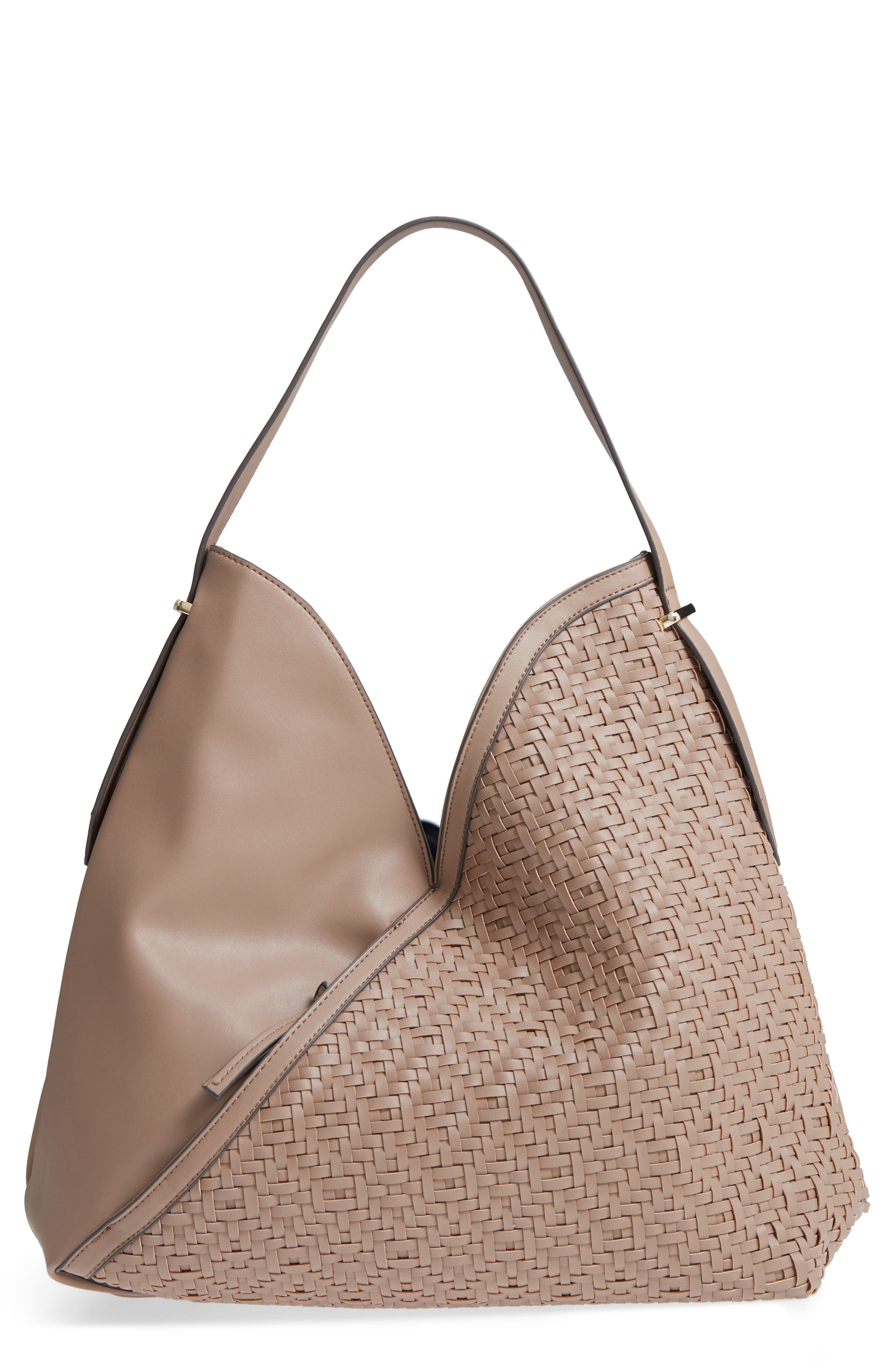 Sole Society Woven Faux Leather Hobo