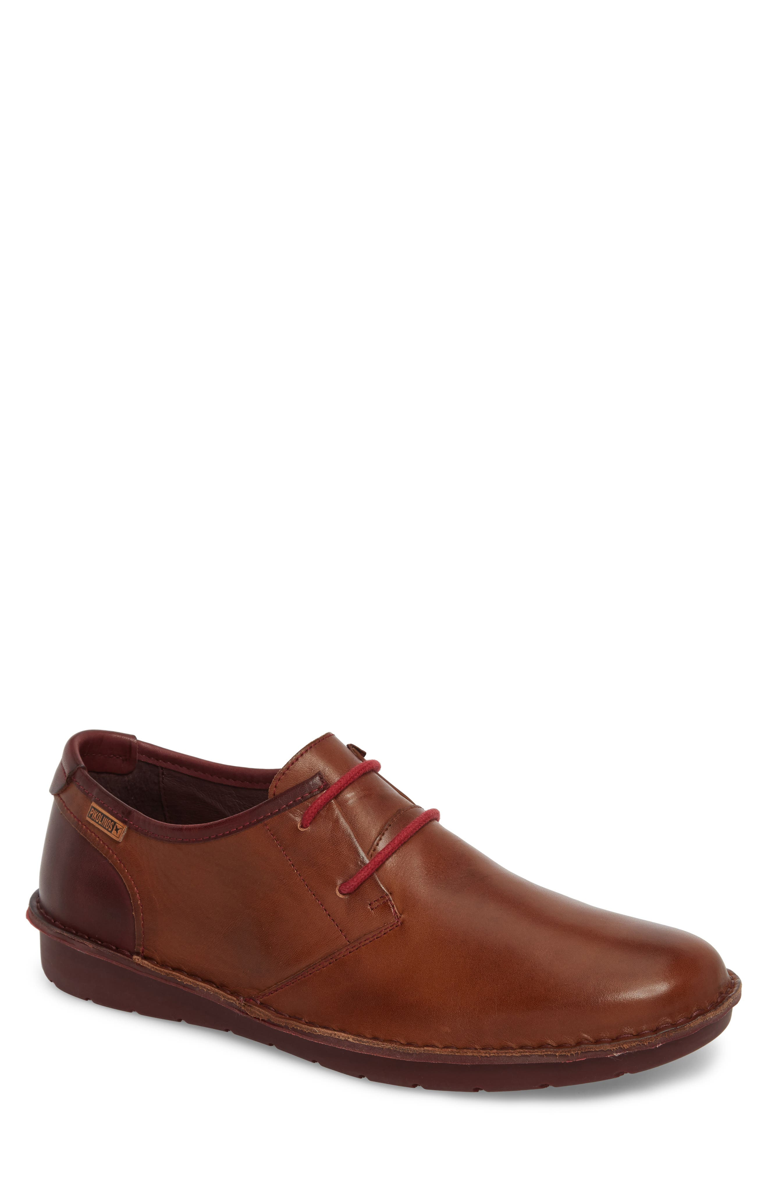 'Santiago' Plain Toe Derby,                             Main thumbnail 1, color,                             Cuero Leather