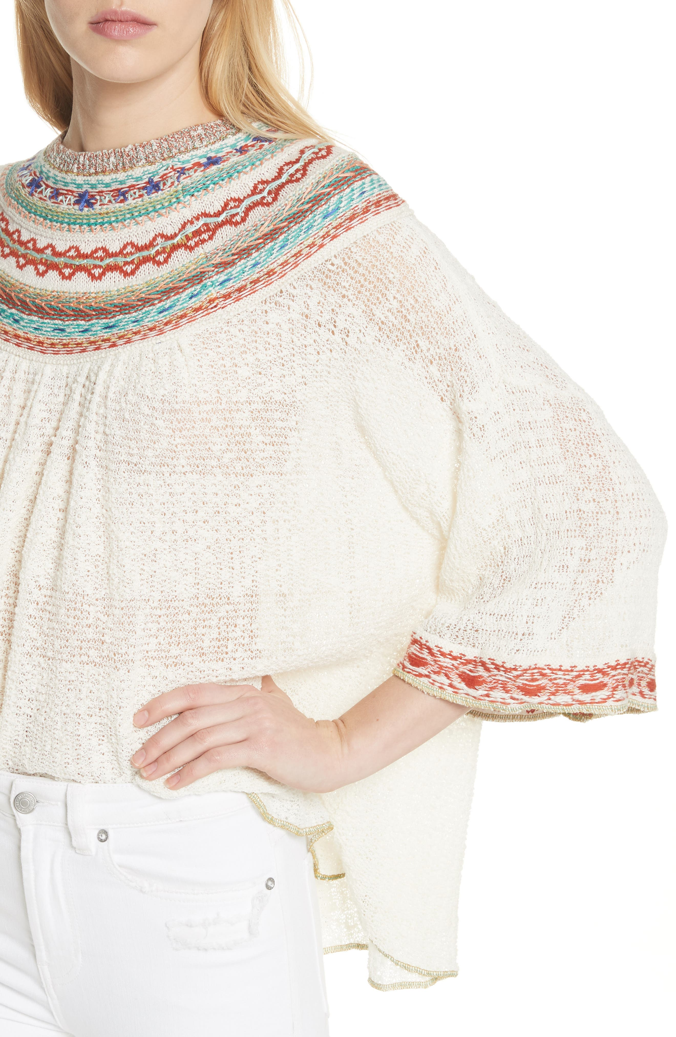 Vacation Sweater,                             Alternate thumbnail 4, color,                             Ivory