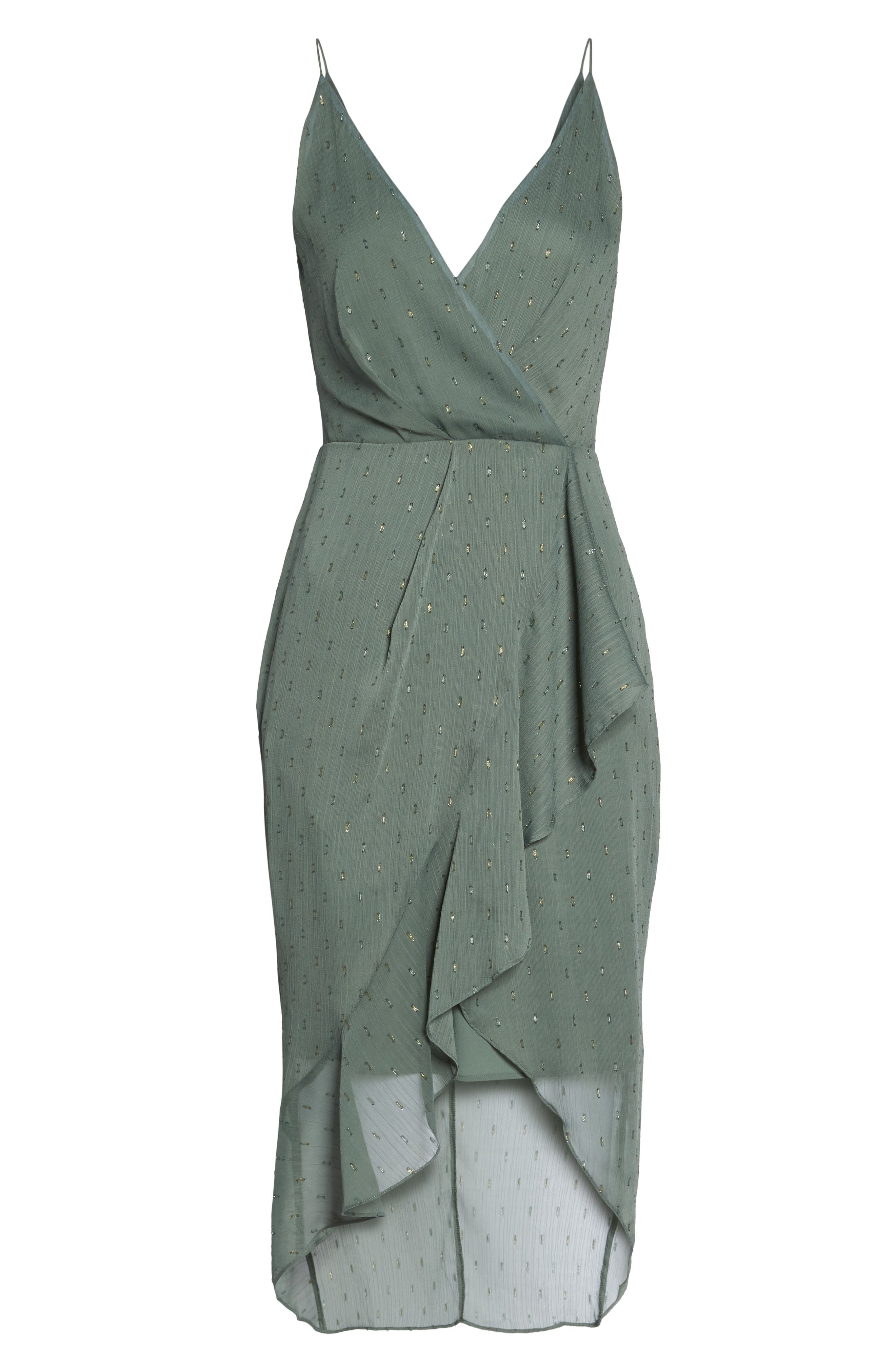 Wind In The Willows Drape Dress,                             Alternate thumbnail 6, color,                             Pine Green
