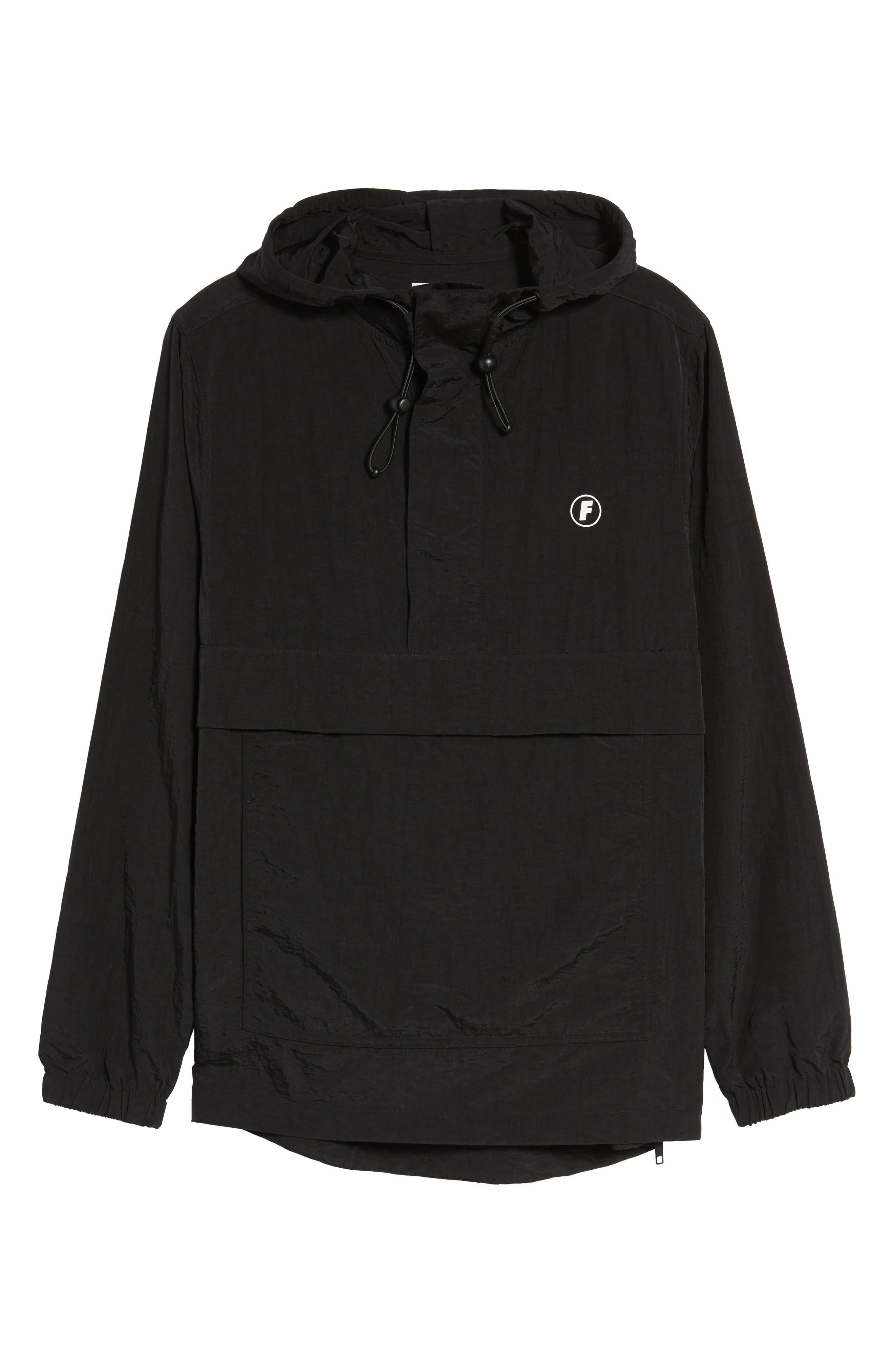 Tillman Packable Anorak Jacket,                             Alternate thumbnail 6, color,                             Black