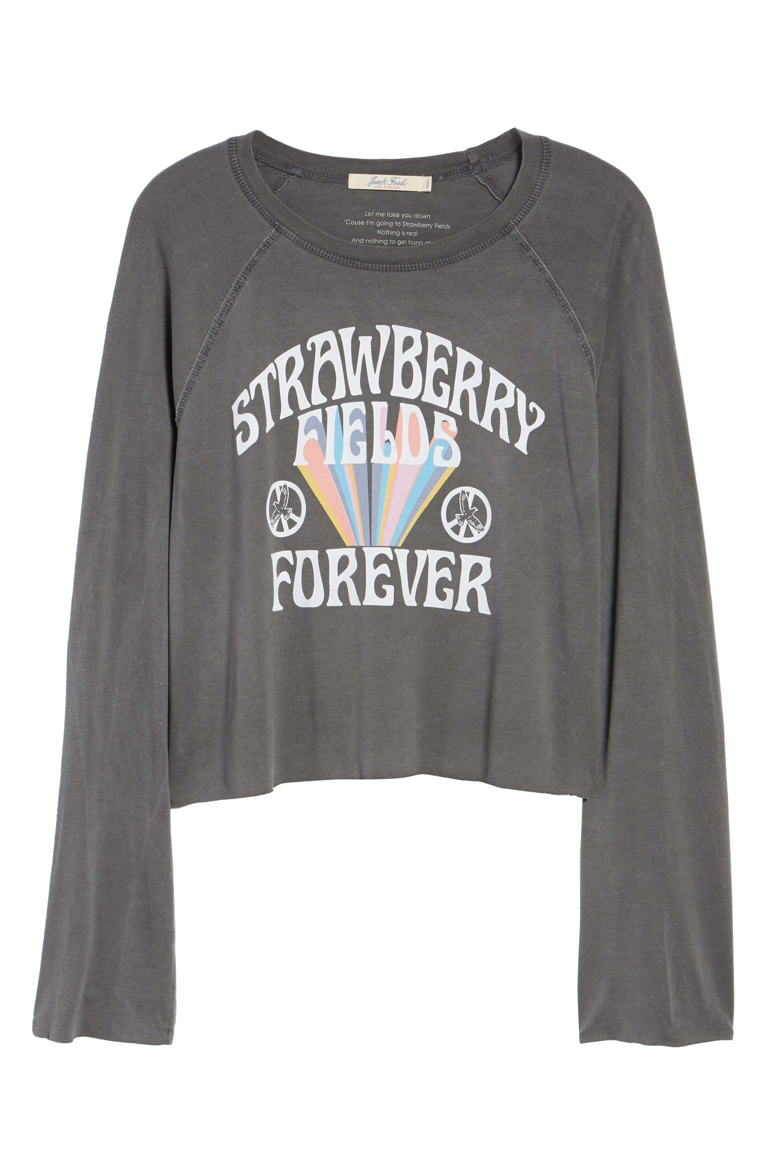 Strawberry Fields Sweatshirt,                             Alternate thumbnail 7, color,                             Vintage Black