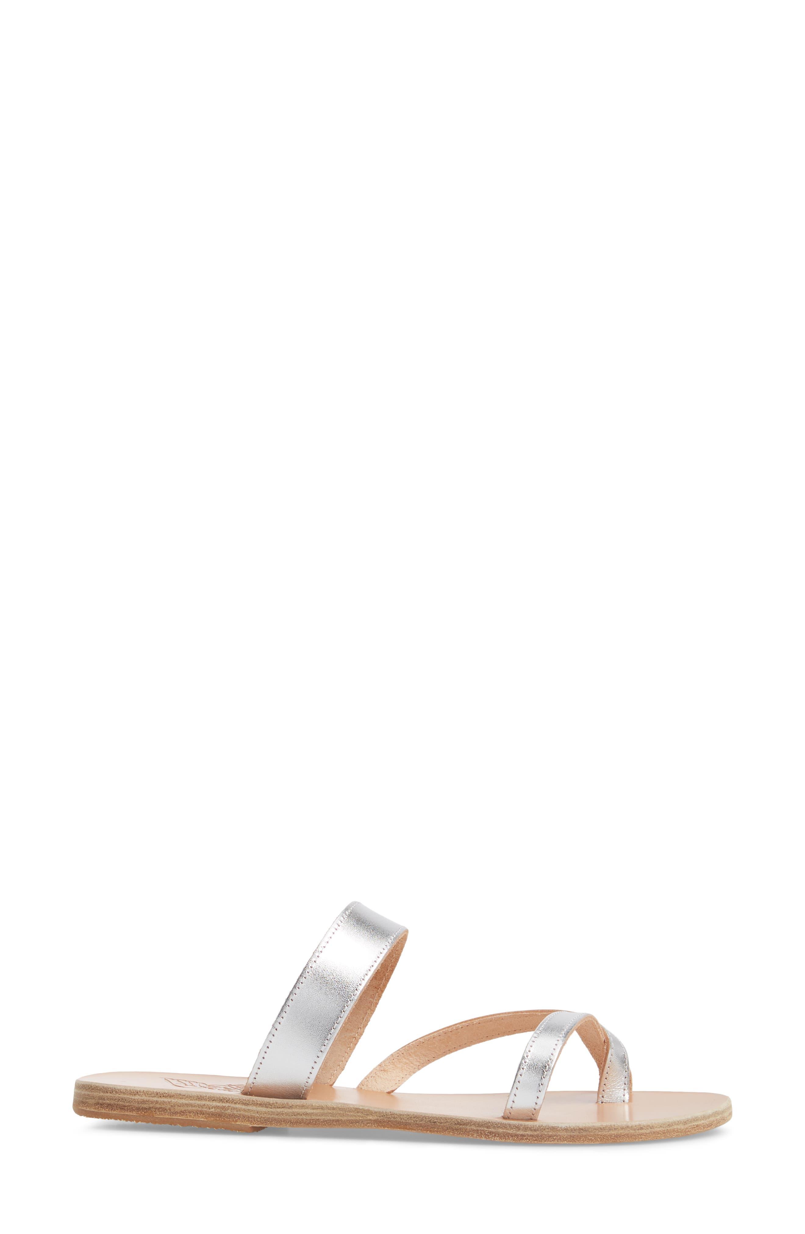 Daphnae Sandal,                             Alternate thumbnail 3, color,                             Silver