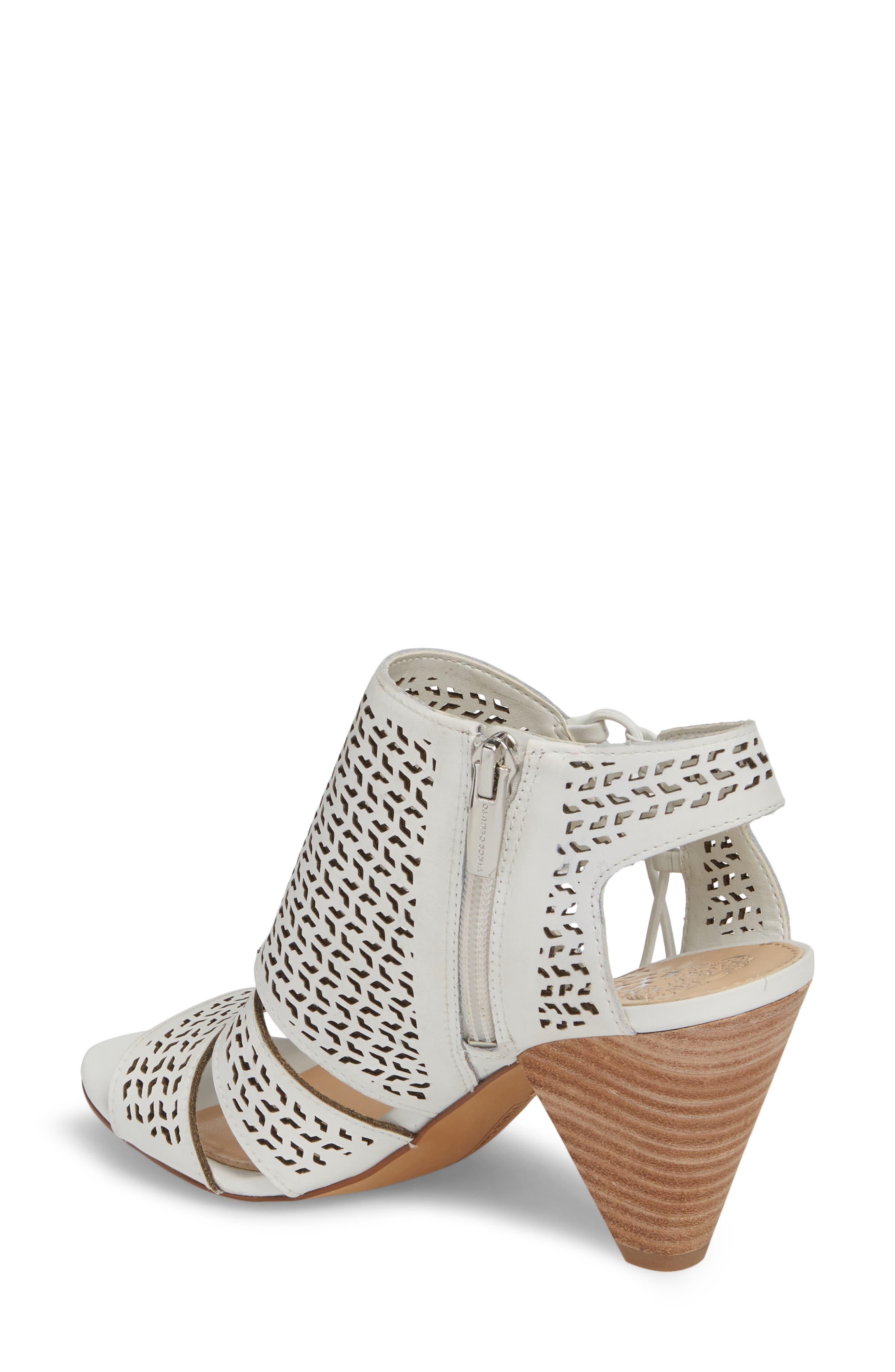 Esten Perforated Sandal,                             Alternate thumbnail 2, color,                             Pure Leather