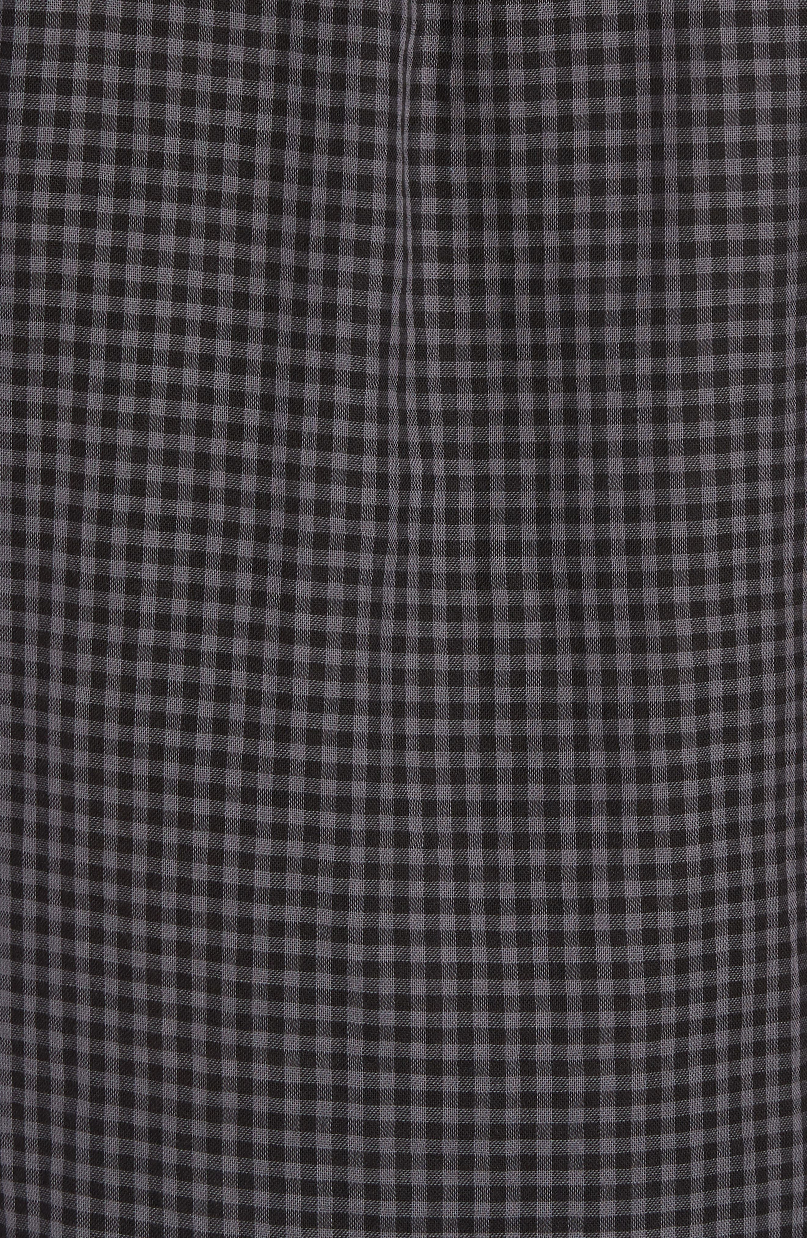 Soho Gingham Sport Shirt,                             Alternate thumbnail 5, color,                             Black Charcoal