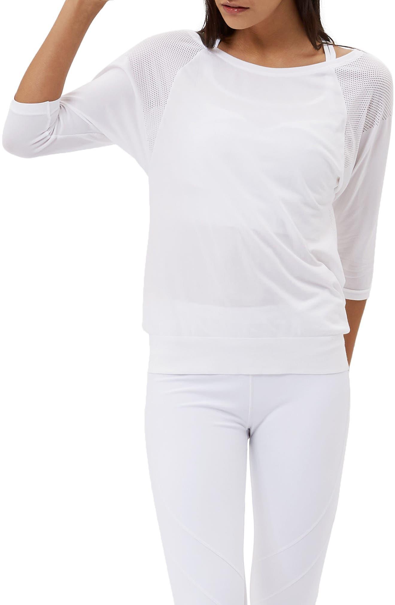 Dharana Yoga Tee,                             Main thumbnail 1, color,                             White