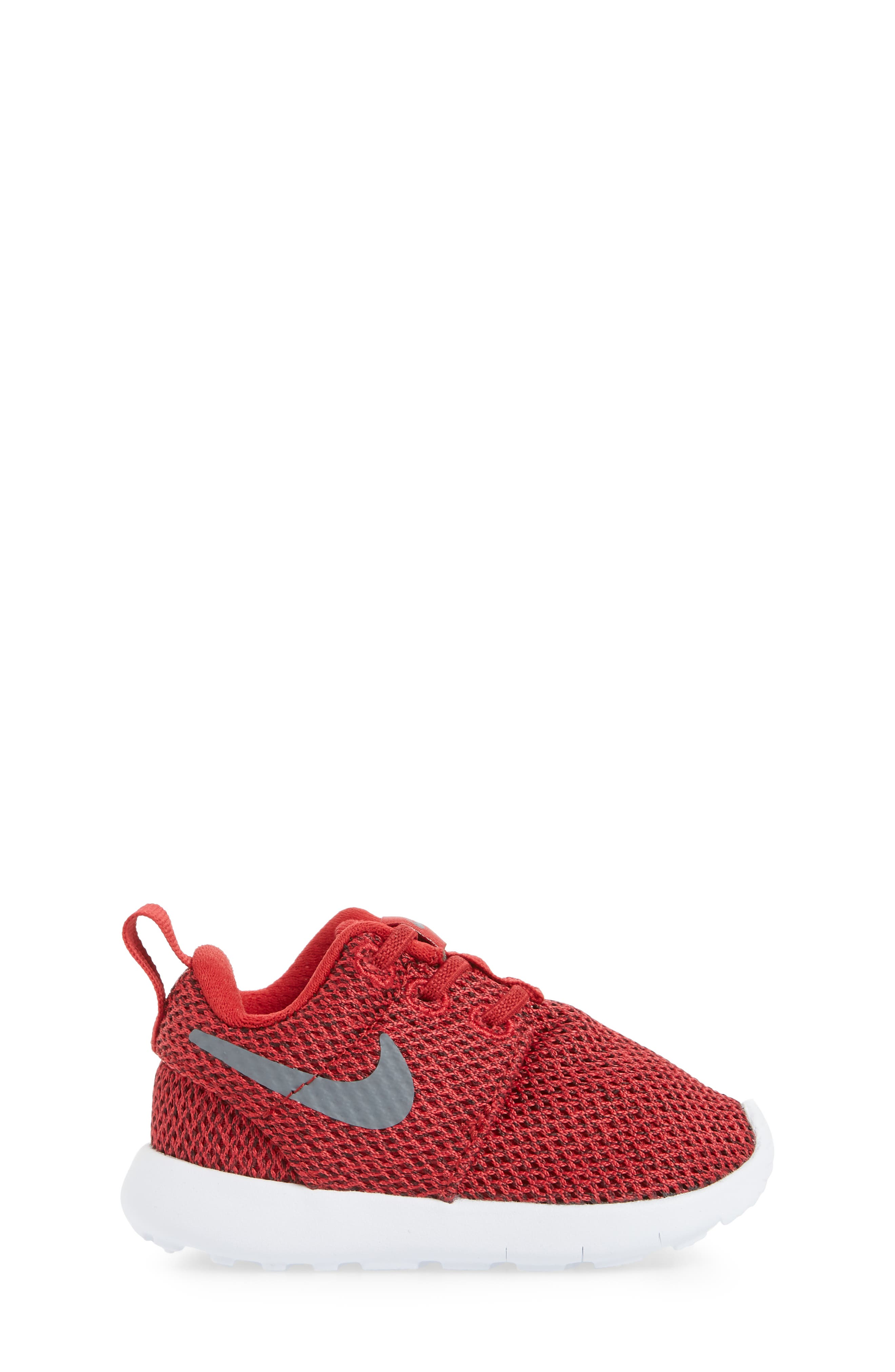 'Roshe Run' Sneaker,                             Alternate thumbnail 3, color,                             Gym Red/ Cool Grey/ Anthracite