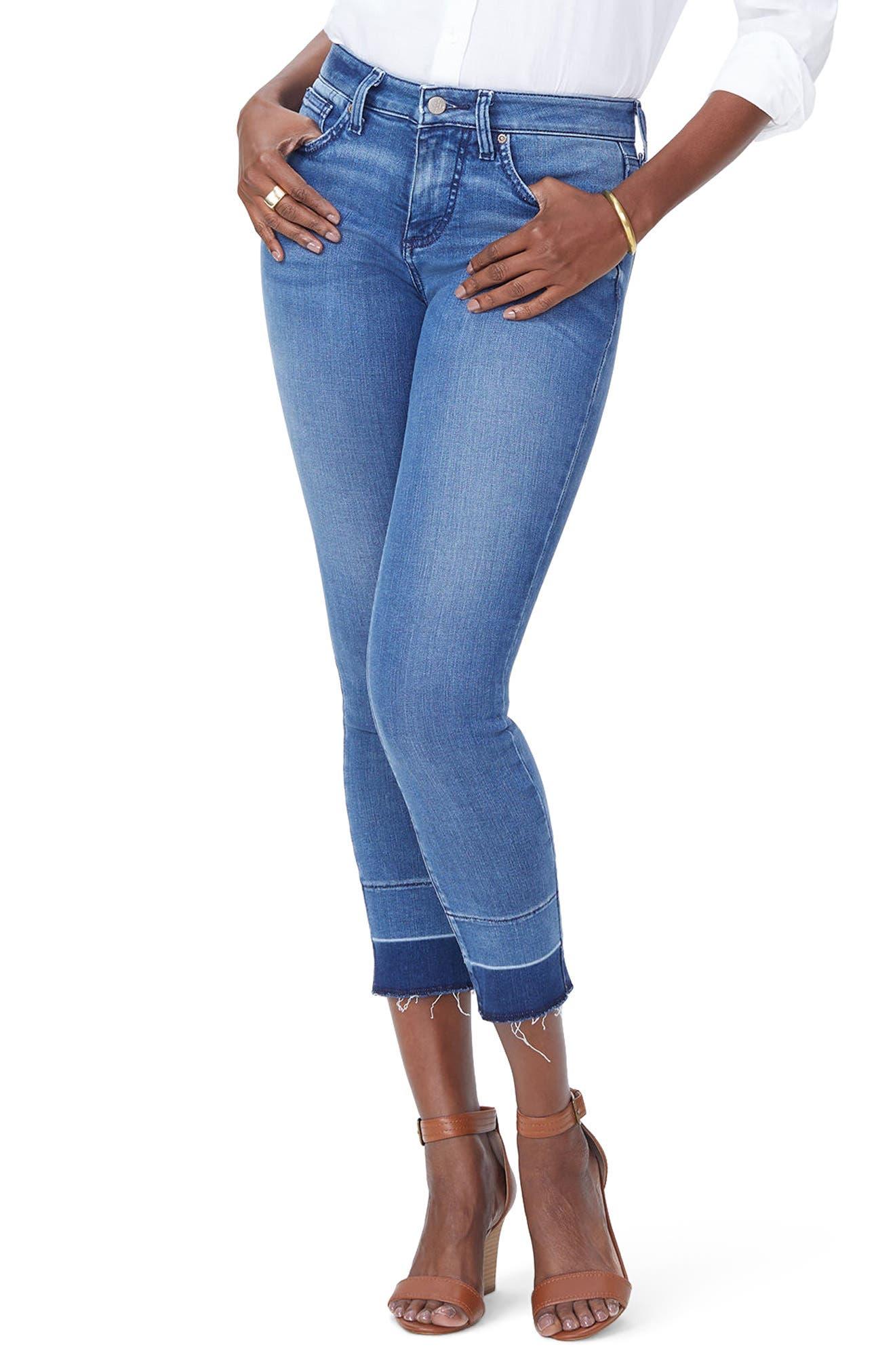 Alina Release Hem Ankle Skinny Jeans,                         Main,                         color, Wishful
